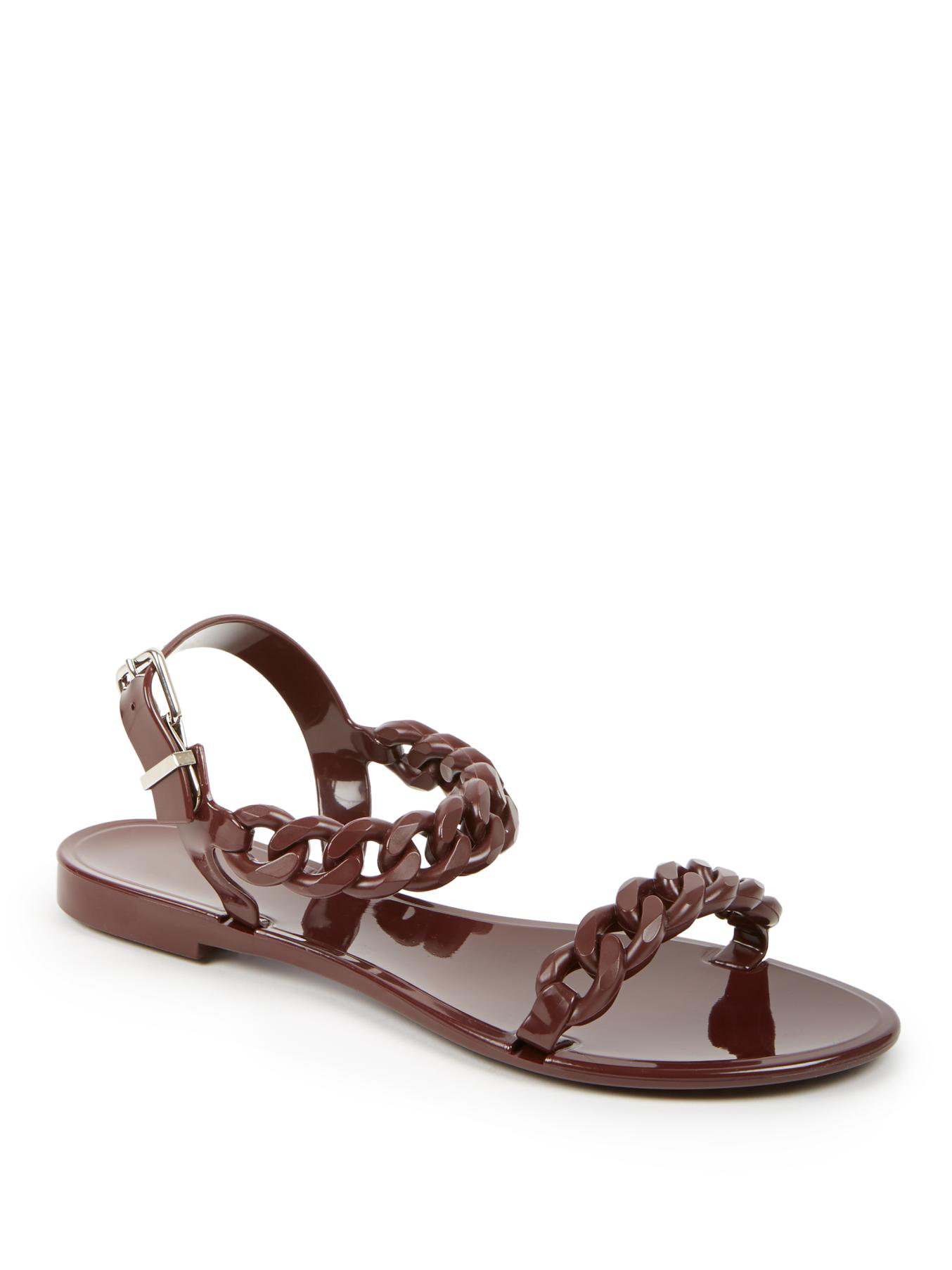 Givenchy Nea Jelly Flat Sandals In Purple burgundy Lyst