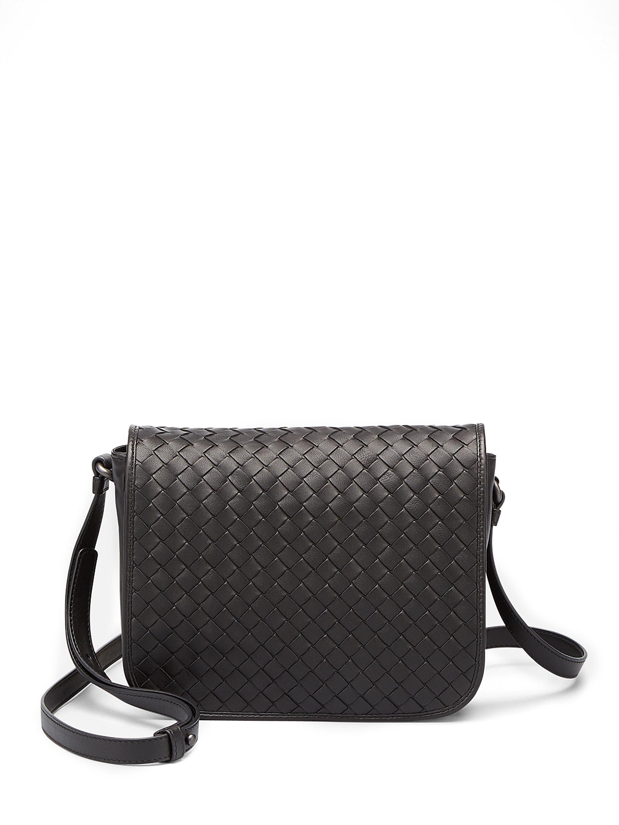 textured crossbody bag - Black Bottega Veneta JlHs3
