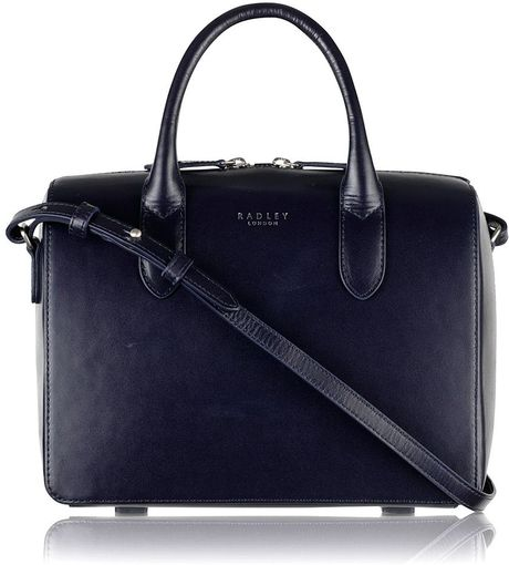 Radley Bloomsbury Navy Small Cross Body Bag in Blue (Navy)