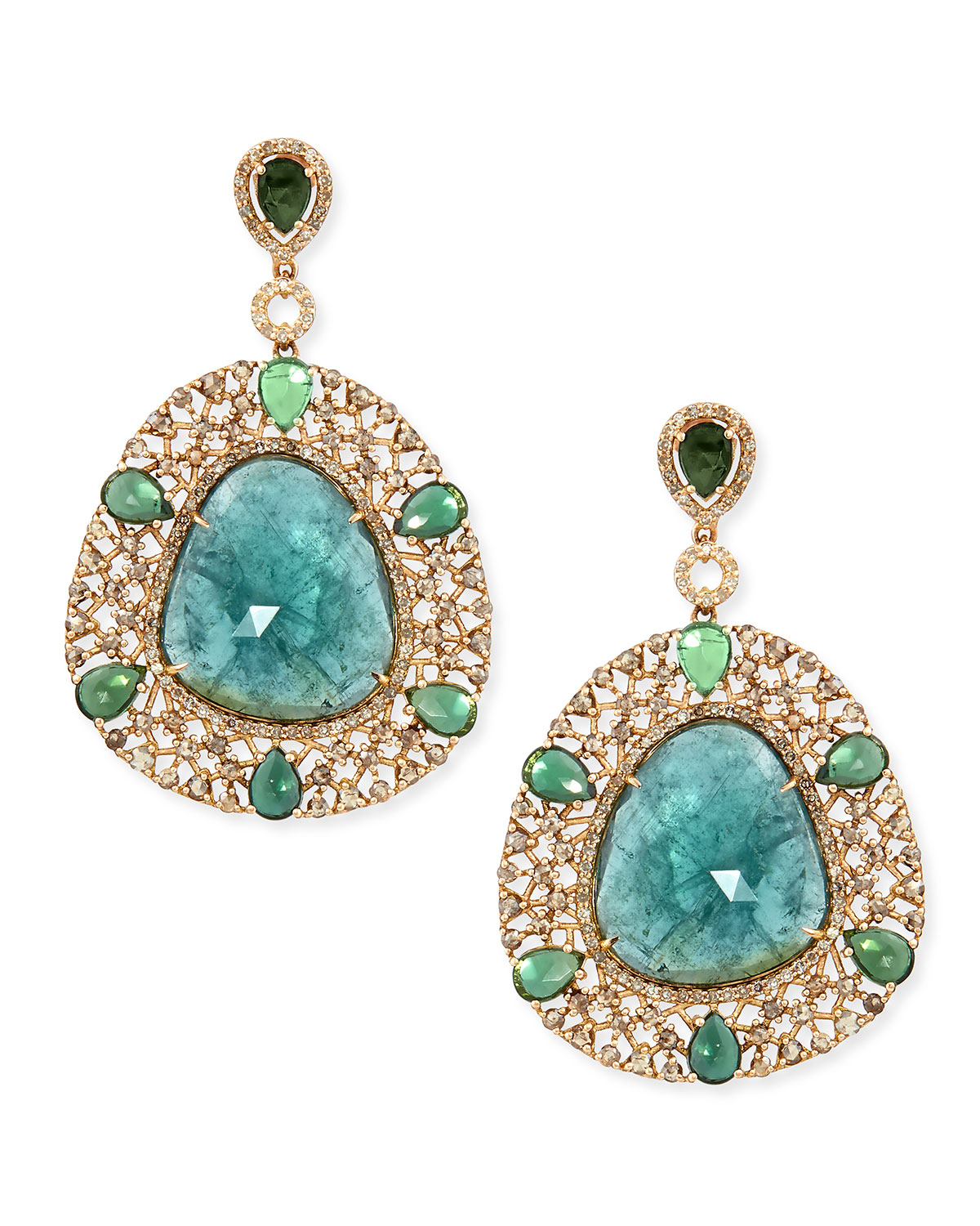 bavna jewelry bavna 18k yellow gold shield earrings with diamonds and 8014