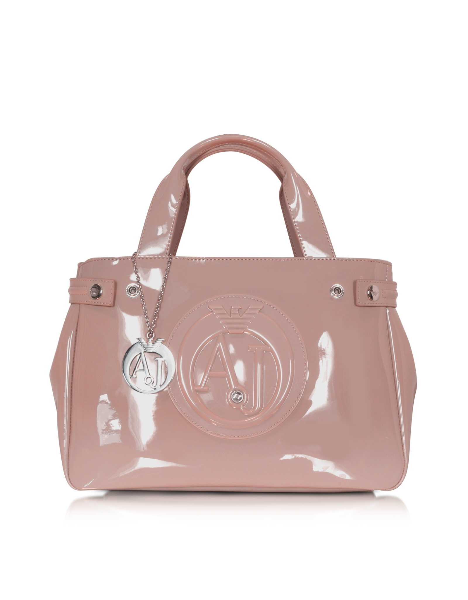 Lyst - Armani Jeans Patent Eco Leather Shopping Bag in Pink d382ddfa58fe7
