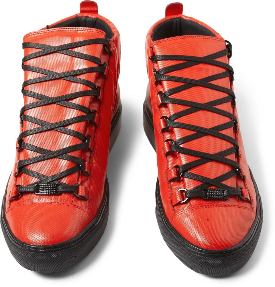 Red Lace Shoes Men