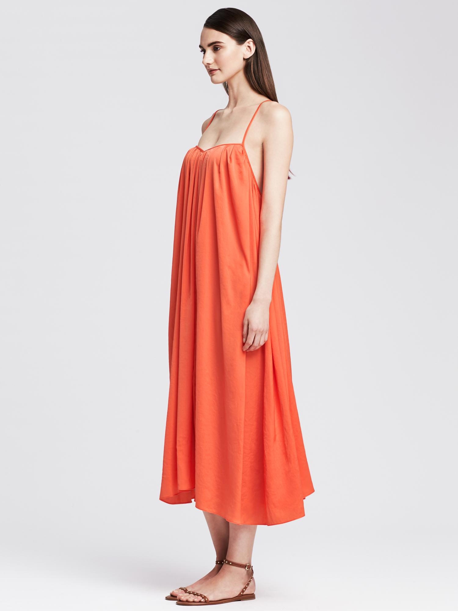 d24e4c82703 Banana Republic Trapeze Dress in Orange - Lyst
