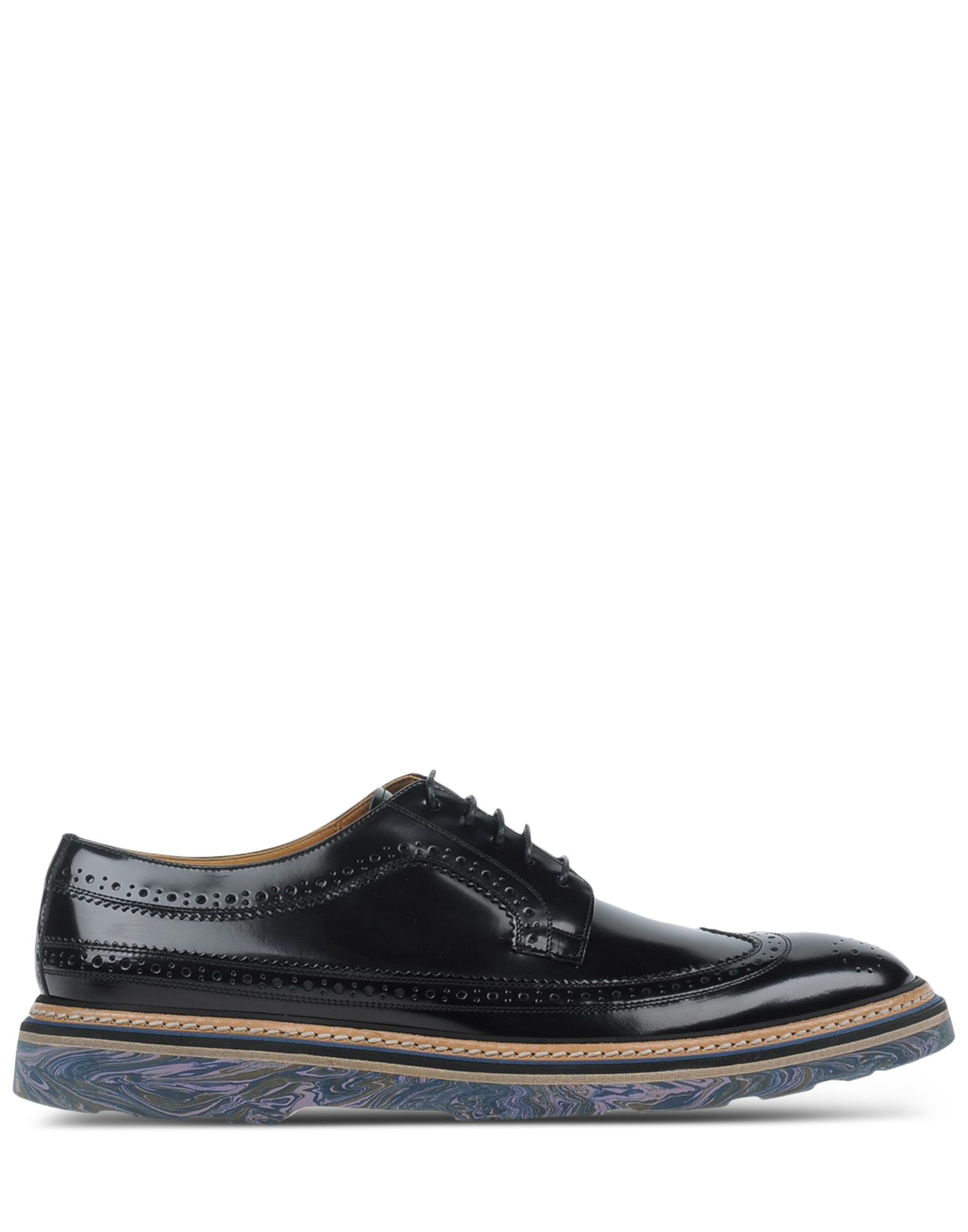 paul smith laced shoes in black for lyst