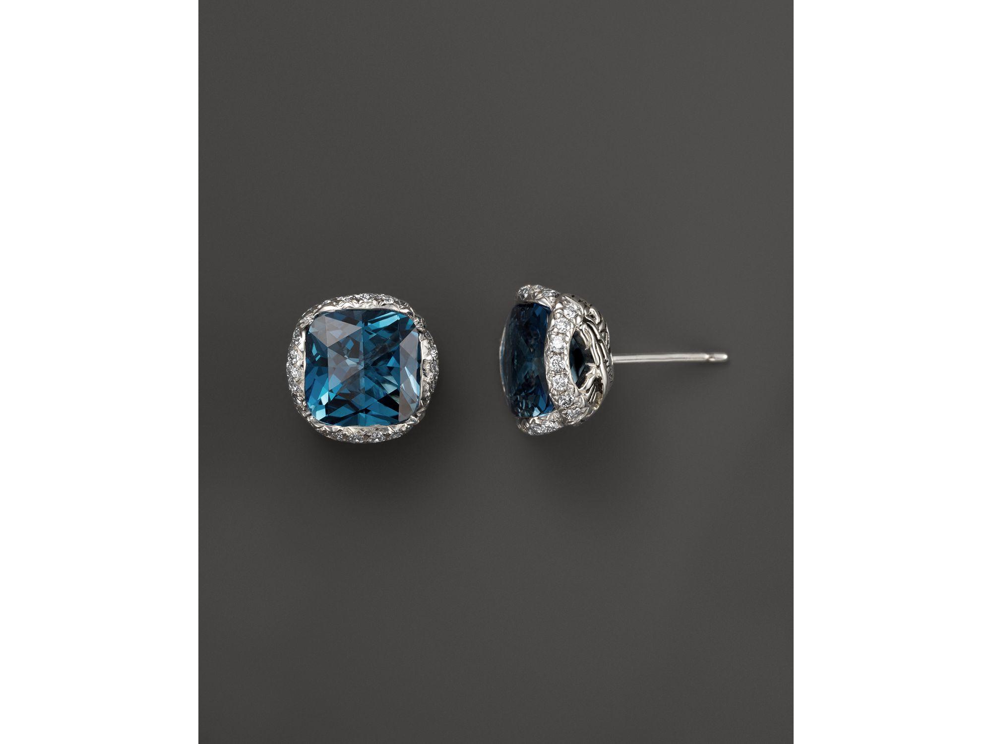 London Topaz Earrings Marco Bicego Murano London Blue Topaz