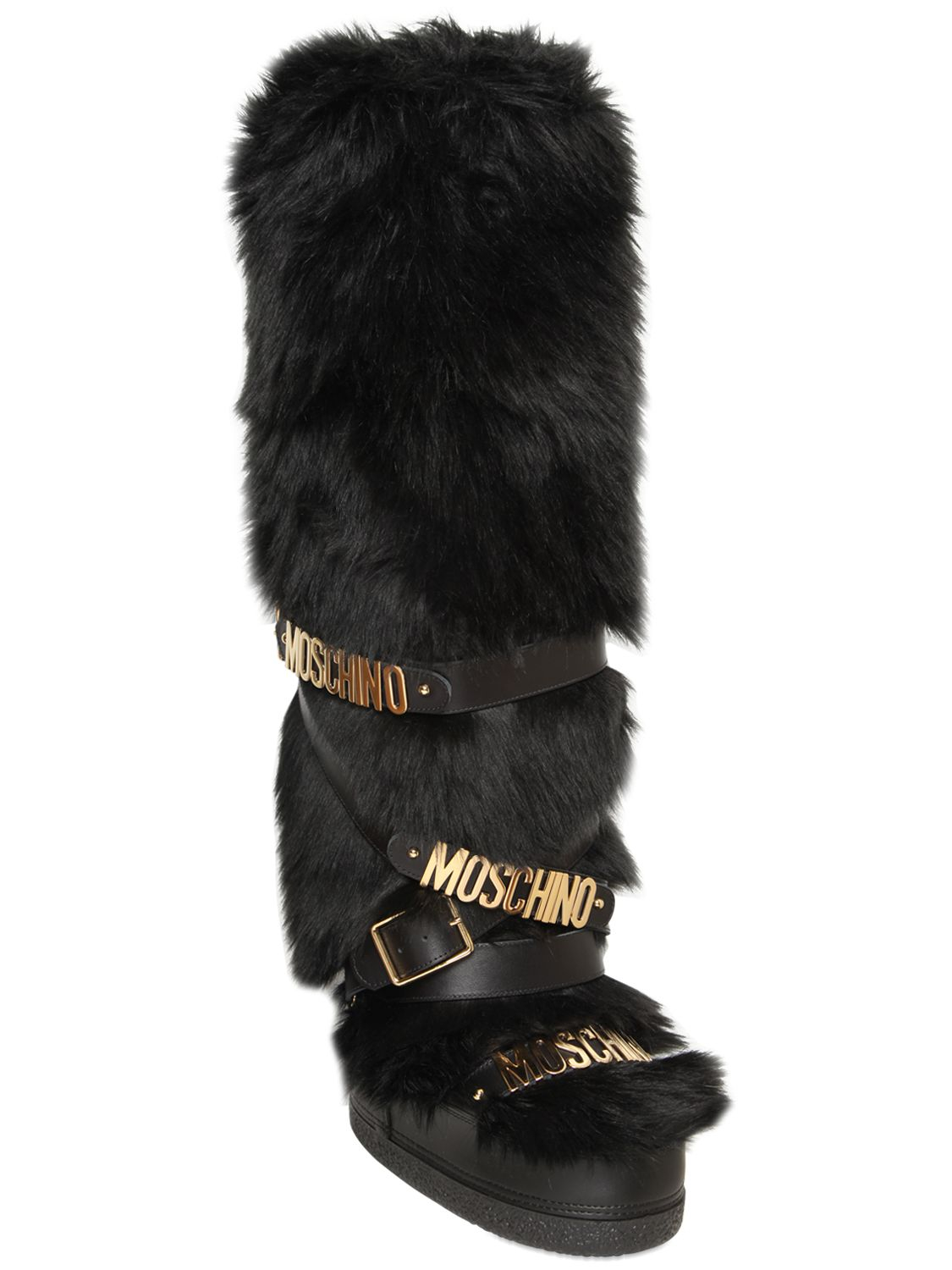 Barts Black Faux Fur Snow Boots | Santa Barbara Institute for ...