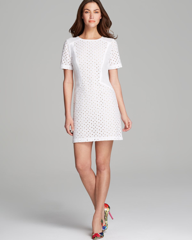 d6cd49677da Trina Turk Dress - Marquise Circle Eyelet in White - Lyst