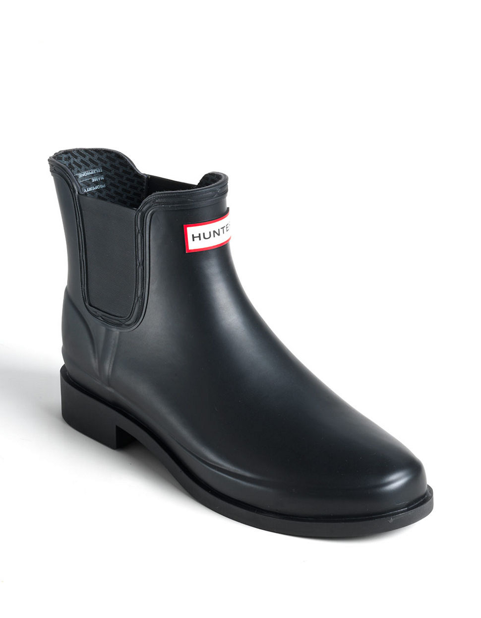 Hunter Chet Short Rainboots In Black For Men Lyst
