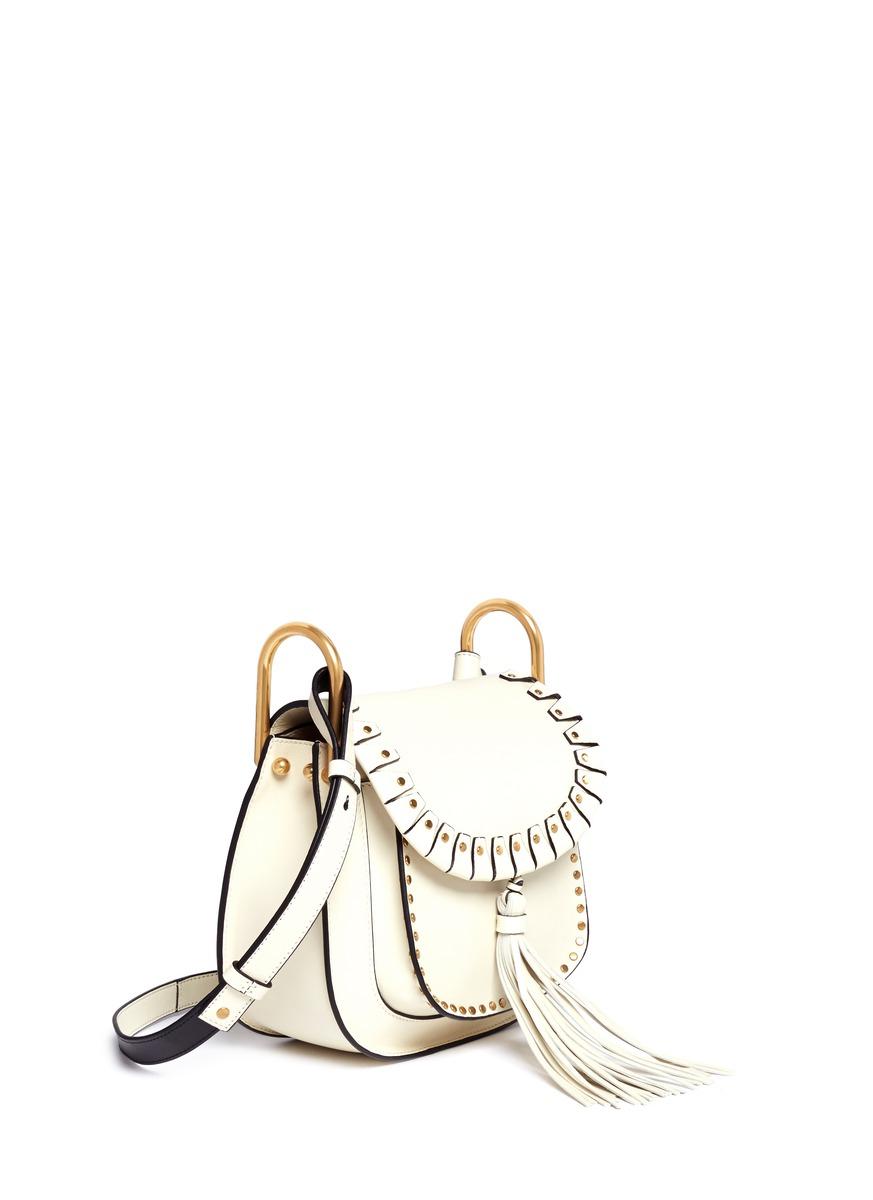 cheap chloe handbags - Chlo�� Hudson Small Leather Shoulder Bag in White | Lyst