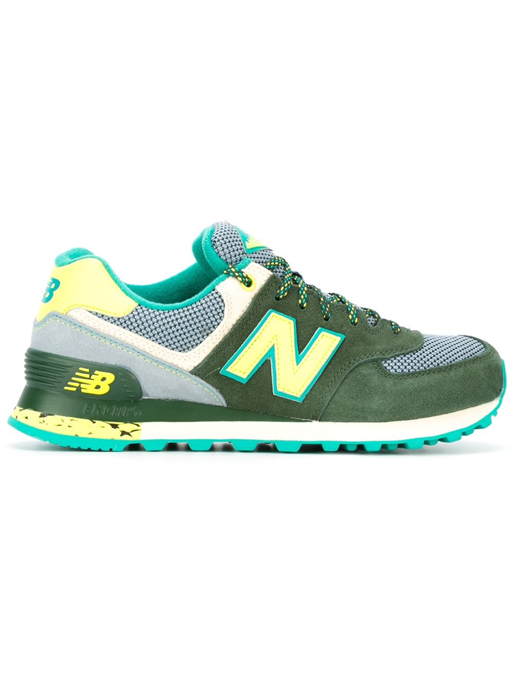 new balance 39 574 39 sneakers in green lyst. Black Bedroom Furniture Sets. Home Design Ideas