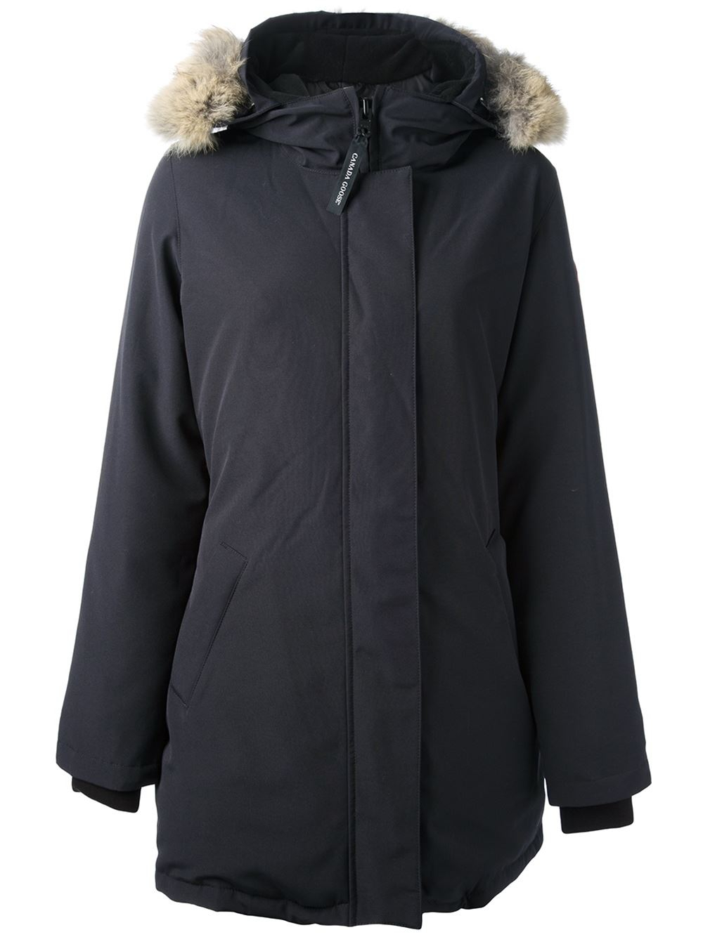 canada goose blue 39 victoria 39 parka lyst. Black Bedroom Furniture Sets. Home Design Ideas