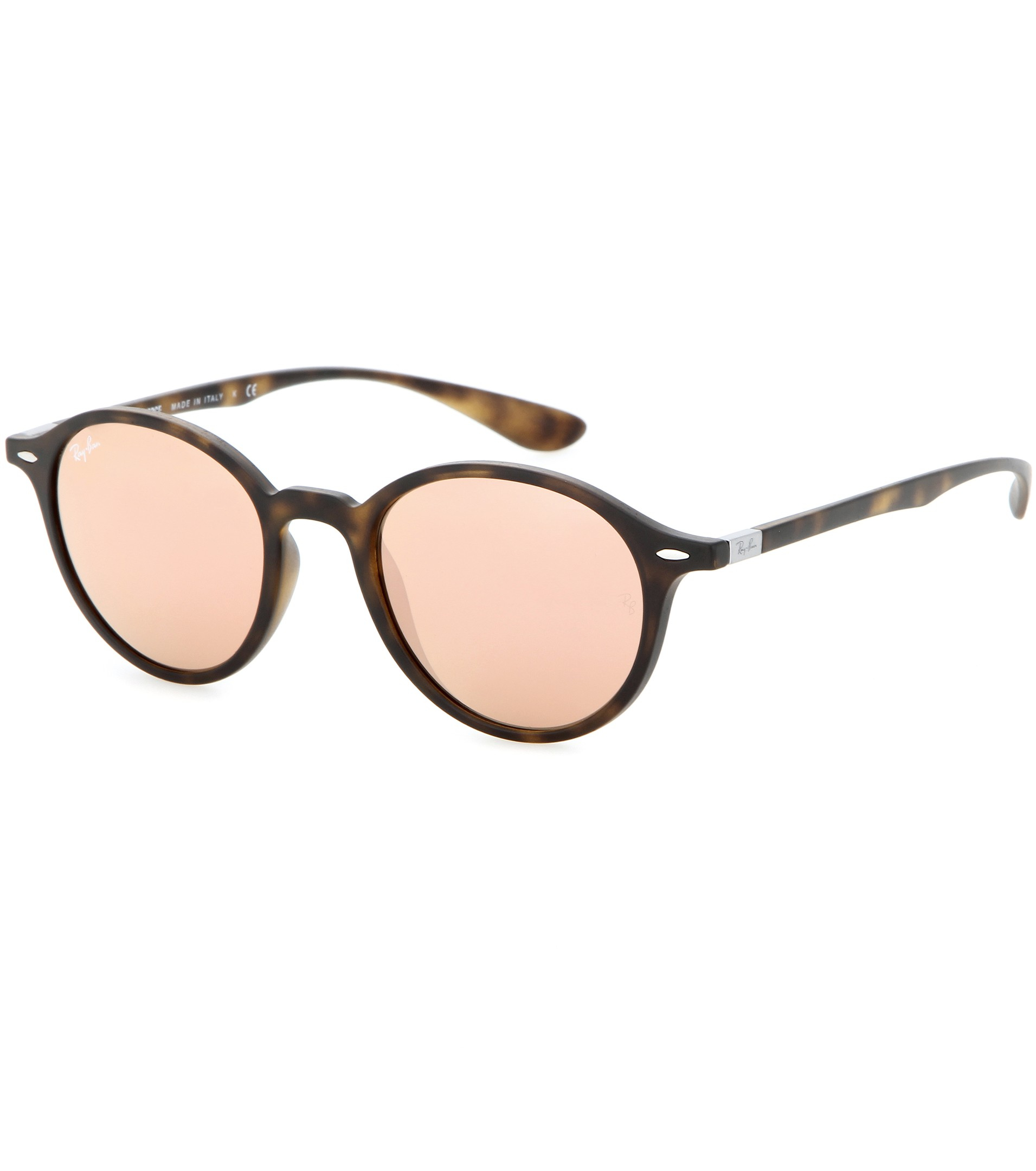 Lyst - Ray-Ban Rb4237 Mirrored Round Sunglasses in Pink