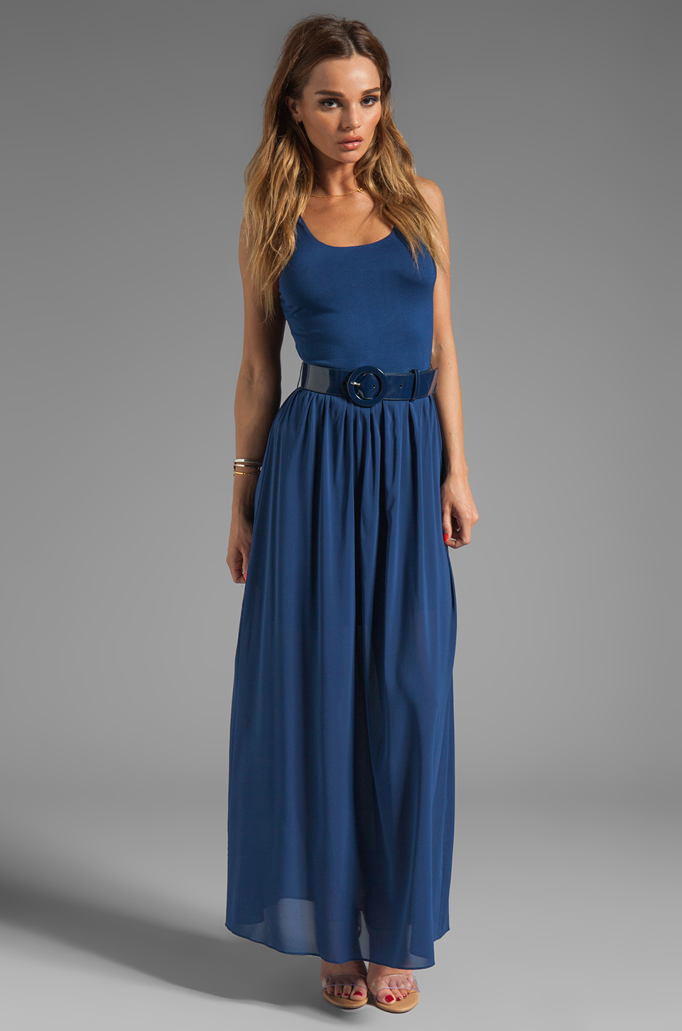 Maxi dress and belt