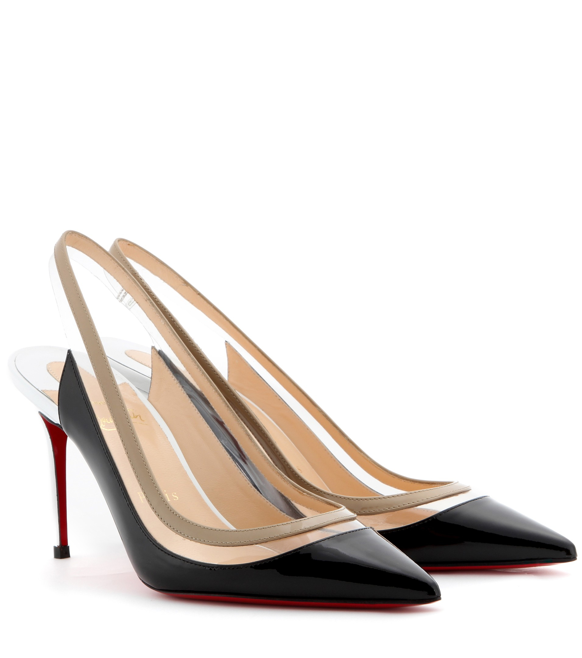 Christian louboutin Paulina Patent Leather Slingback Pumps in ...