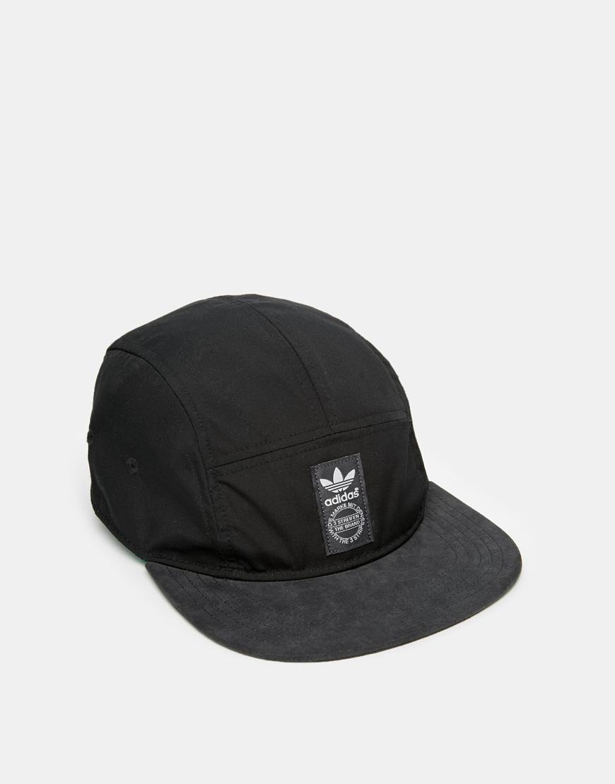 Lyst - adidas 5 Panel Snapback Cap in Black for Men ca9ce408de3