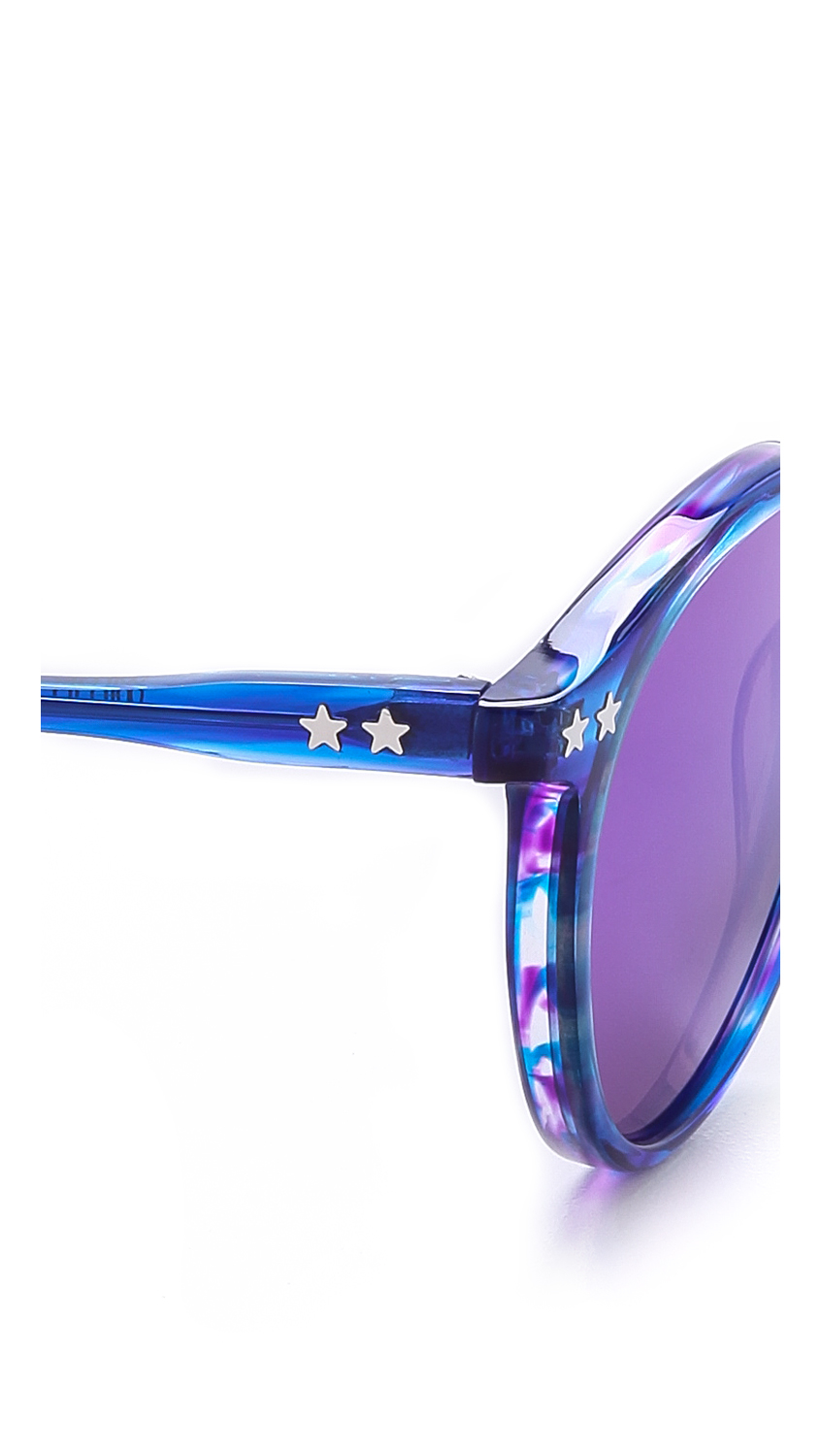 Lyst - Wildfox Steff Deluxe Sunglasses in Blue