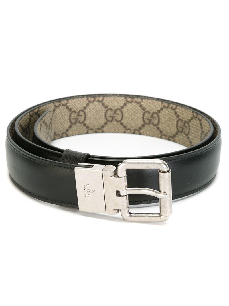 602f76192e9 Lyst - Gucci Reversible Belt in Black for Men