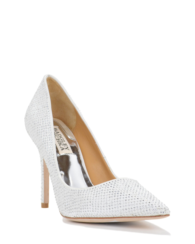 badgley mischka polo embellished evening shoe in