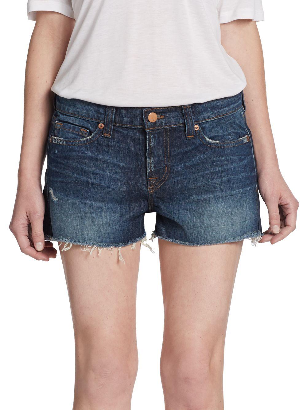 J brand Lowrise Cutoff Denim Shorts in Blue | Lyst