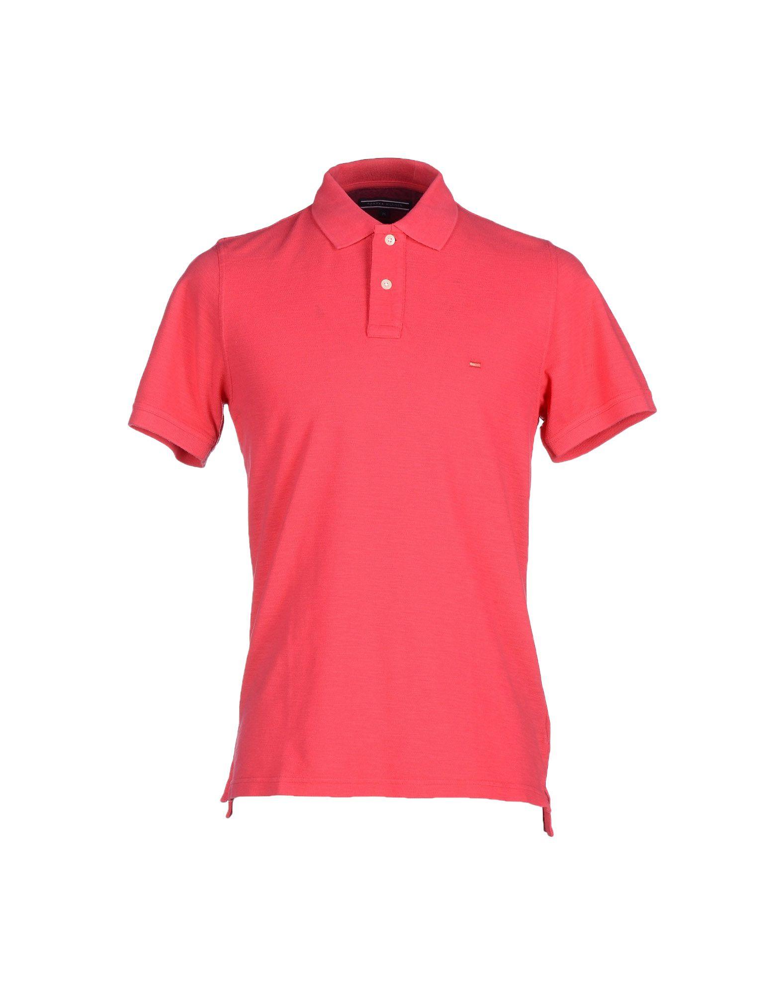 tommy hilfiger polo shirt in pink for men coral lyst. Black Bedroom Furniture Sets. Home Design Ideas