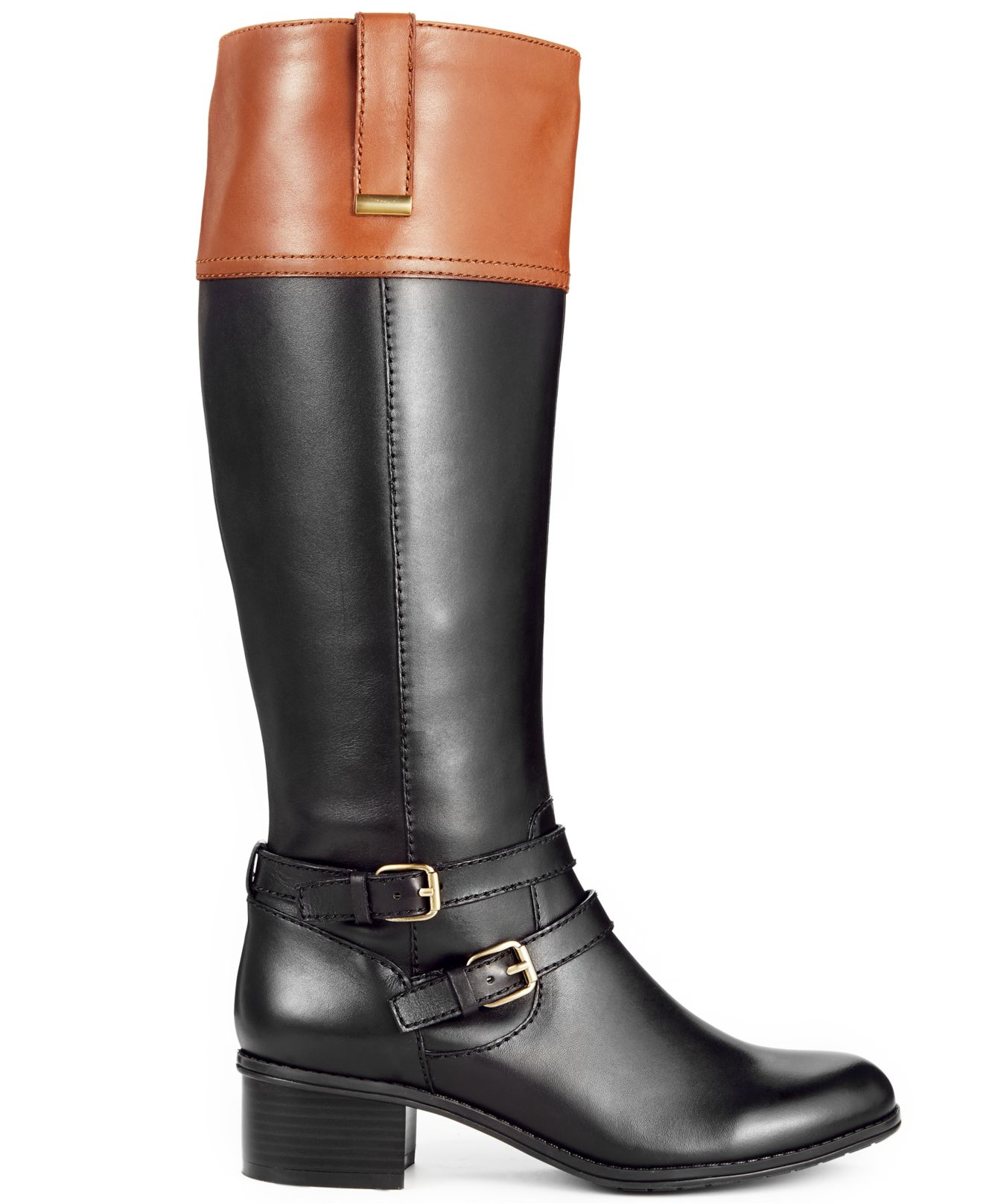 Black And Brown Riding Boots Bandolino Pictures to Pin on ...