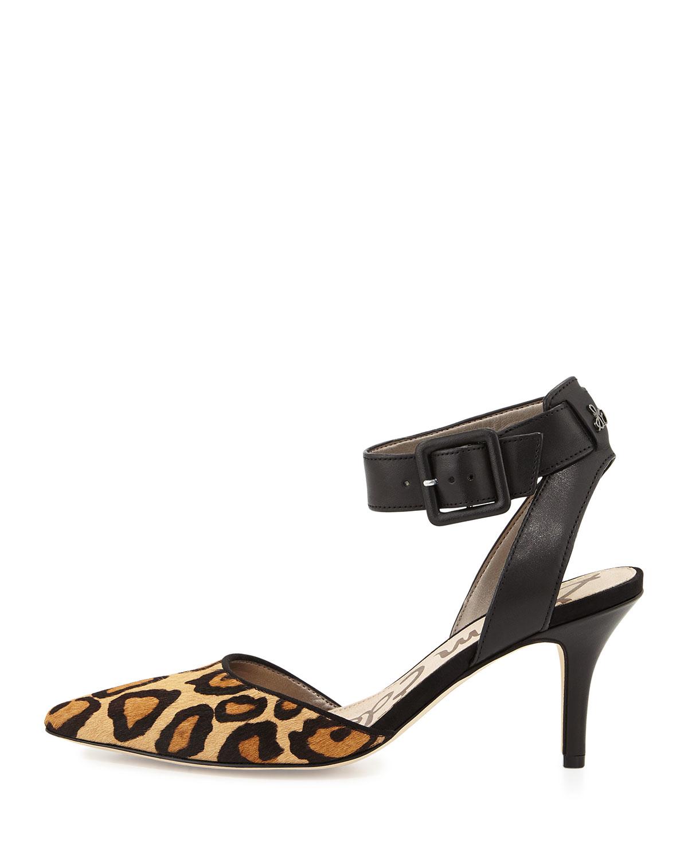 f762e6038494dd Lyst - Sam Edelman Okala Leopard-Print Pump