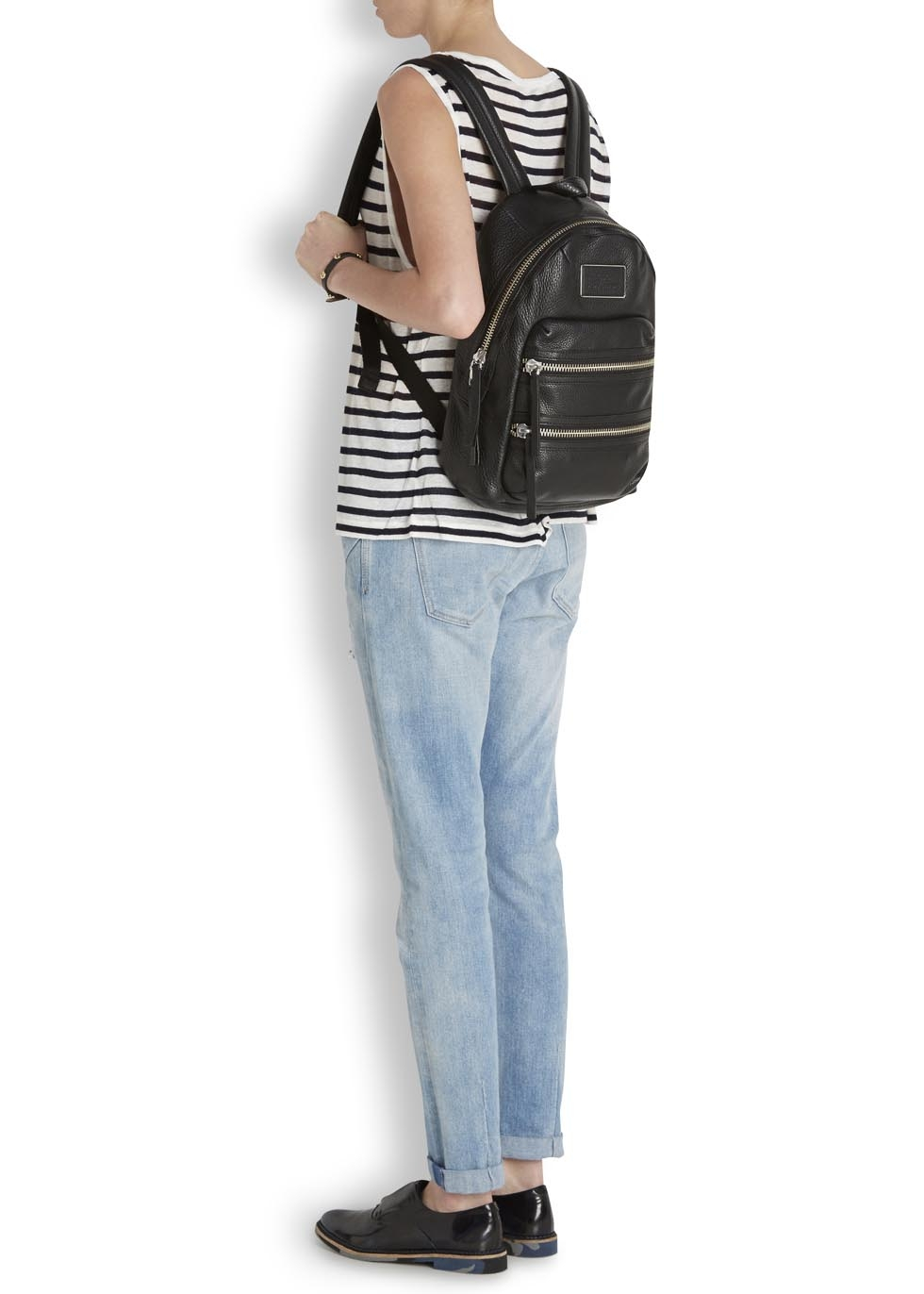 693eebdca3b0b Marc By Marc Jacobs Domo Biker Black Leather Backpack in Black - Lyst