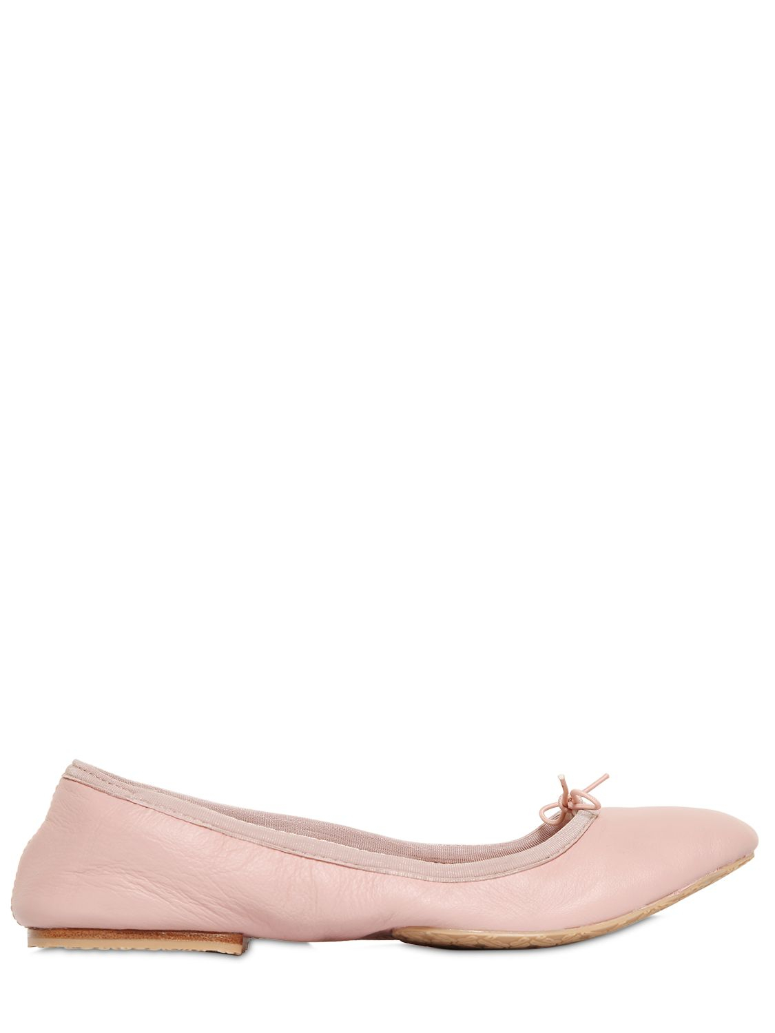 Lyst Bloch Nappa Leather Roll Up Ballerina Flats In Pink