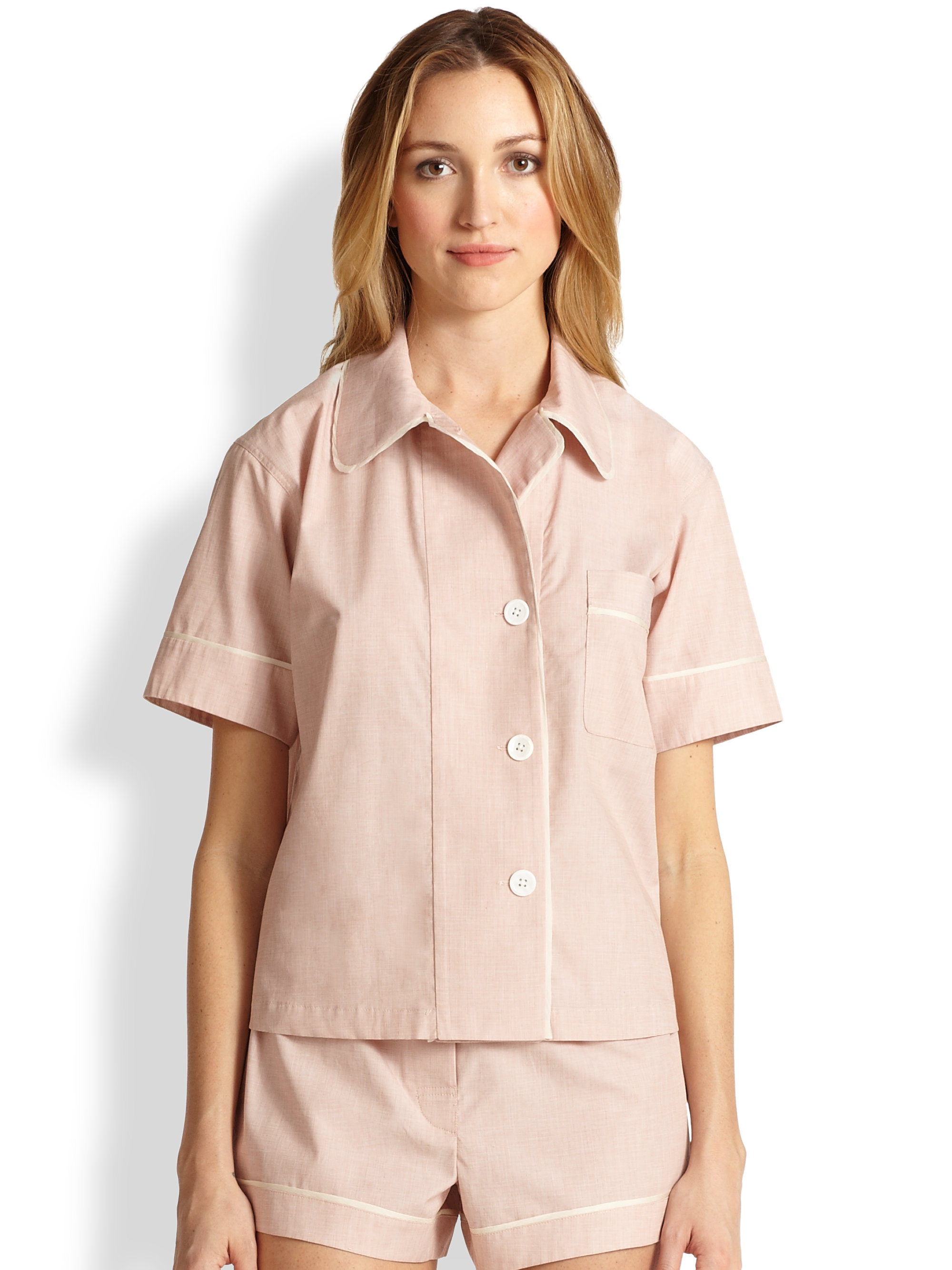Lyst - Araks Shelby Pajama Top in Pink ee0f53a4d