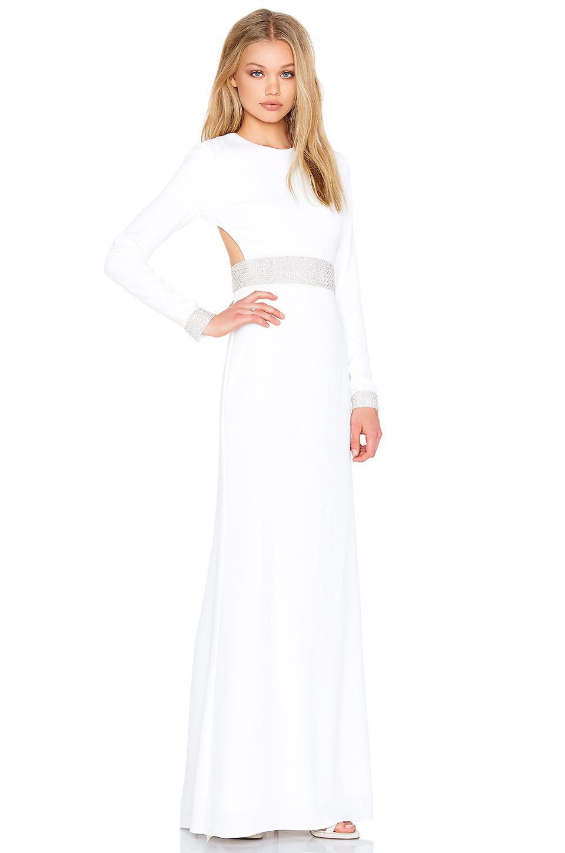 Rachel Zoe Hewitt Back Cutout Maxi Dress In White Lyst