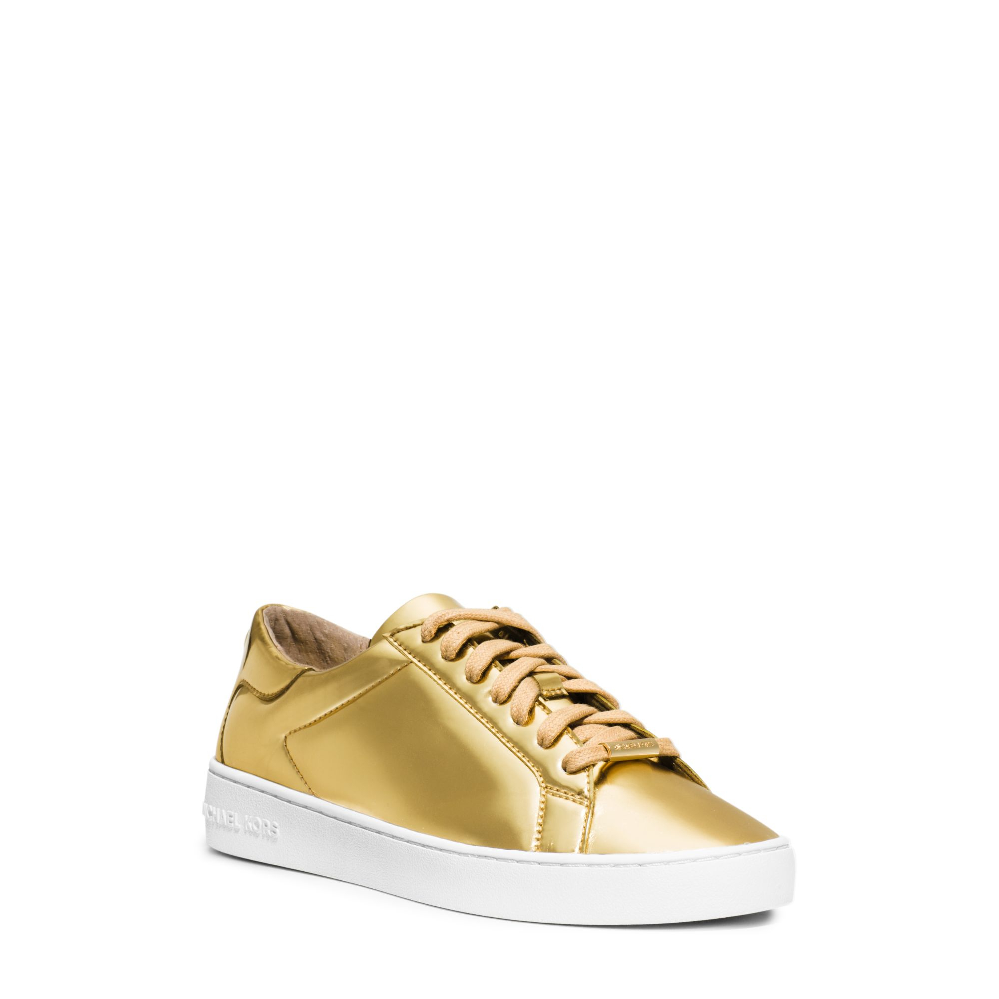 michael kors ruth metallic sneaker in metallic lyst. Black Bedroom Furniture Sets. Home Design Ideas