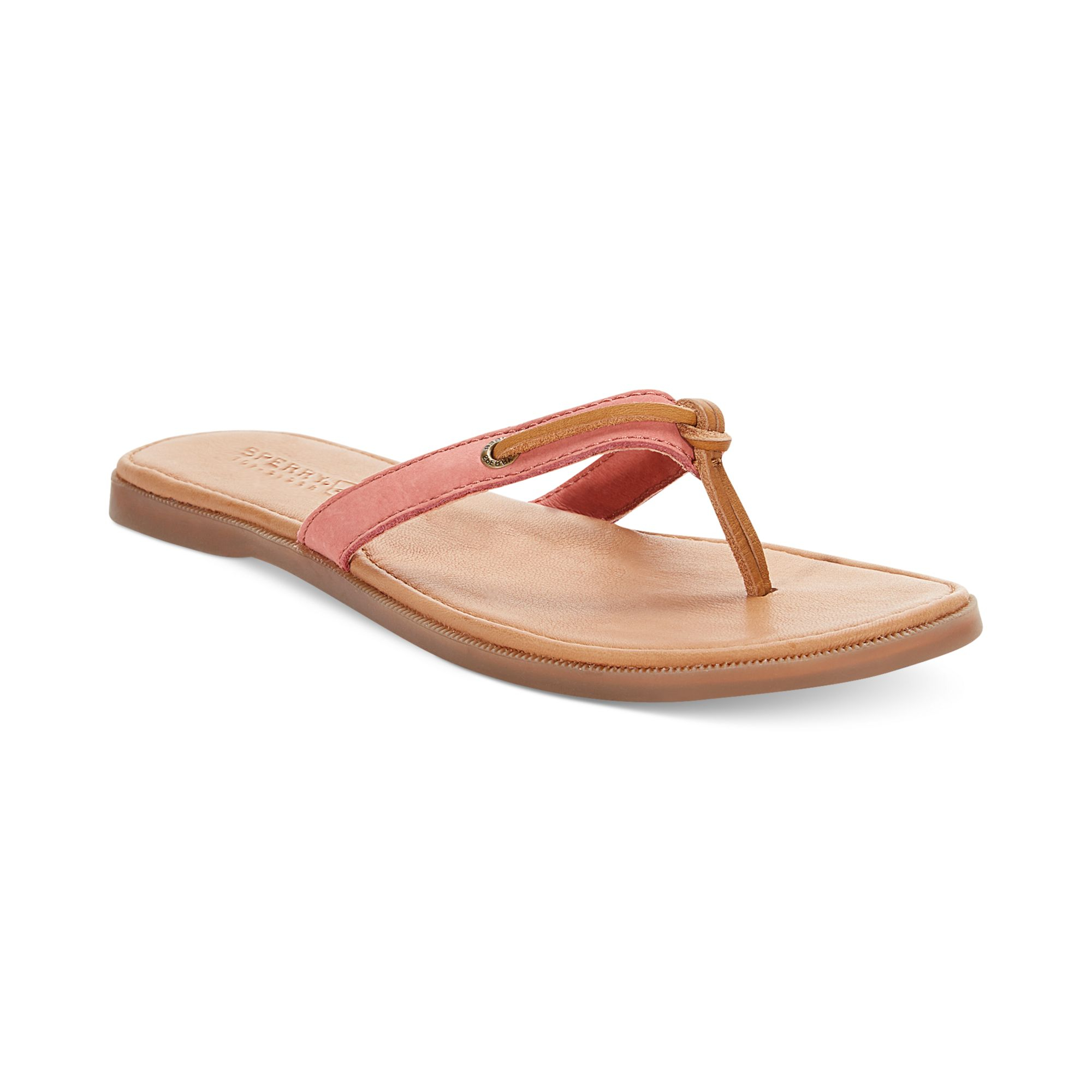 86f5e77014ebc3 Lyst - Sperry Top-Sider Womens Calla Flip Flops in Brown