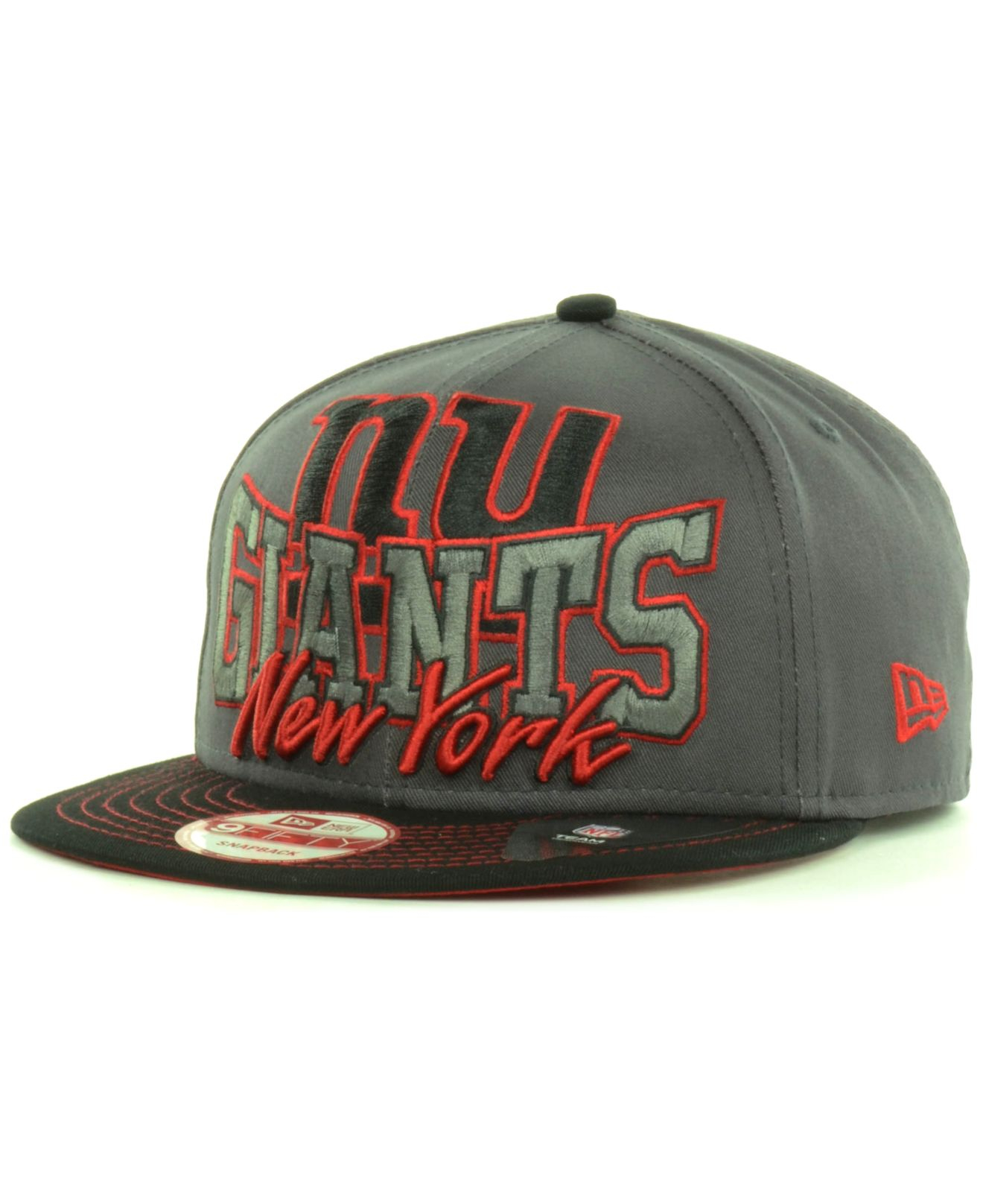 lyst ktz new york giants graphite out and up 9fifty. Black Bedroom Furniture Sets. Home Design Ideas