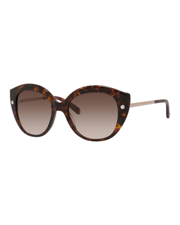 Kate spade Metal-trim Cat-eye Sunglasses in Brown Lyst