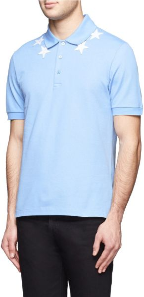7a36cad46dfcf Givenchy Star Appliqué Polo Shirt in Blue for Men (Blue and Green)