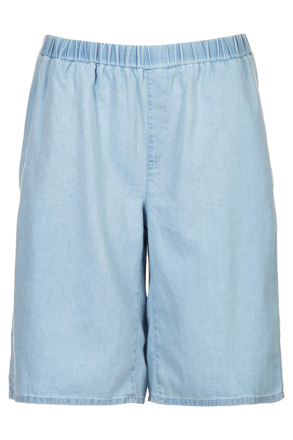 Topshop womens moto bleach denim culottes bleach stone in for Womens denim shirts topshop