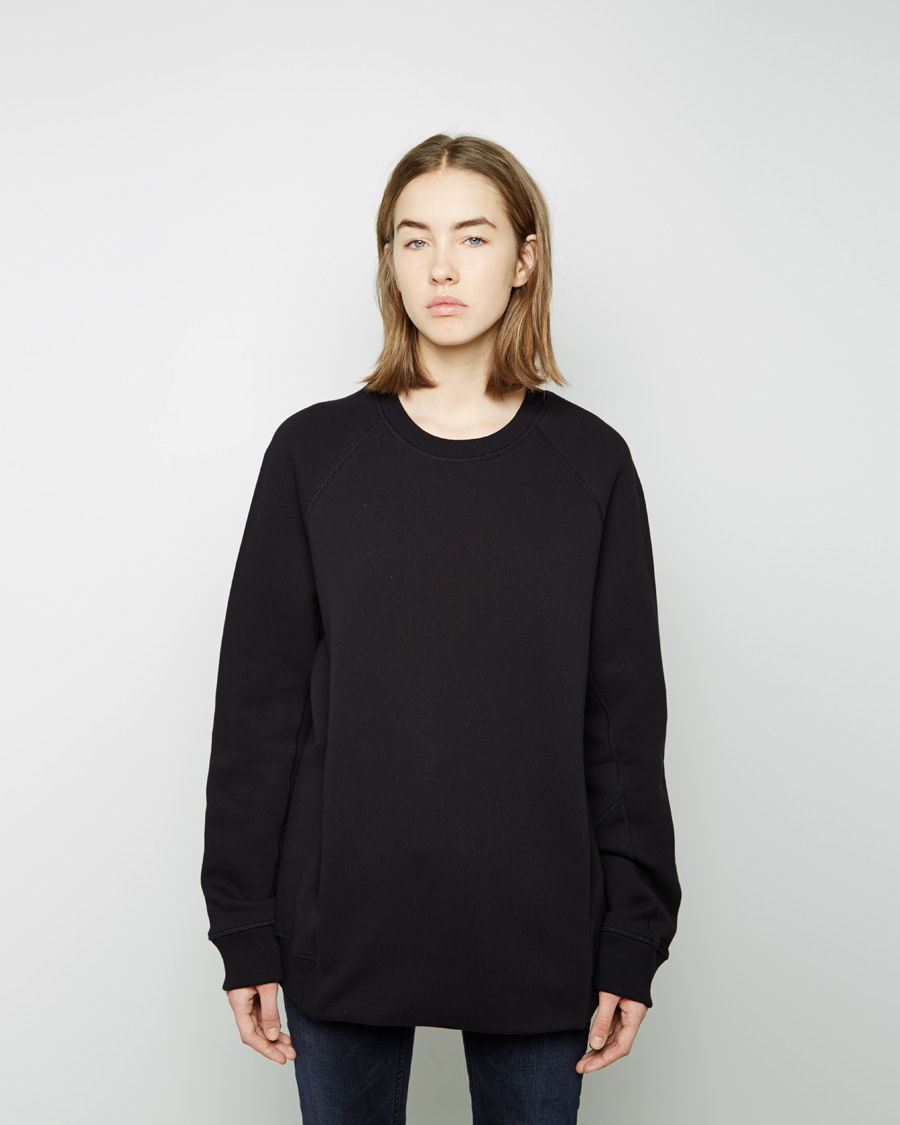 Acne studios Nikoleta Oversized Fleece Pullover in Black | Lyst