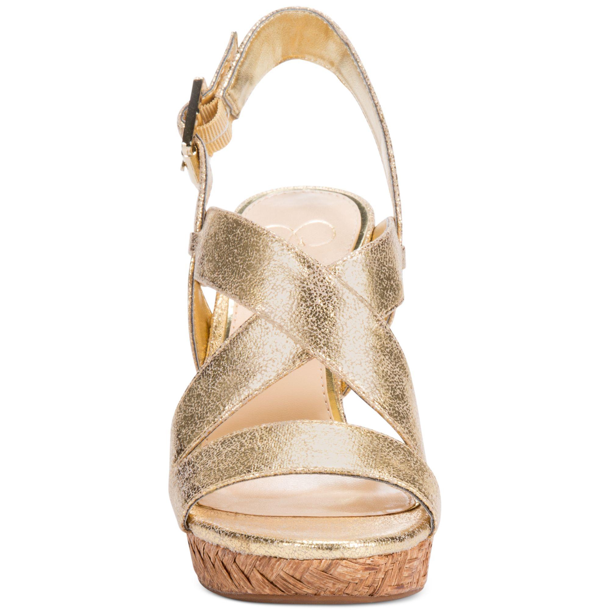 Lyst Jessica Simpson Jerrimo Platform Wedge Sandals In