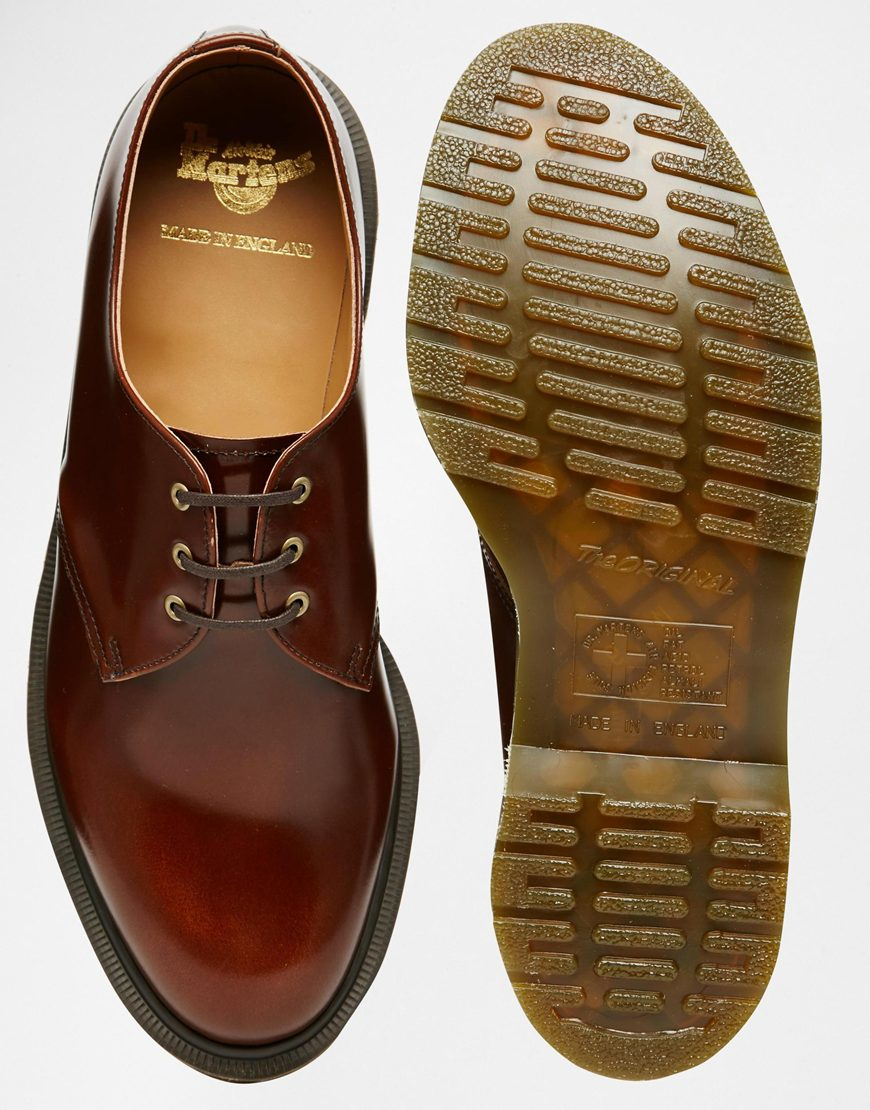 c17d3c98c22 Dr. Martens Made In England 1461 Shoes in Brown for Men - Lyst