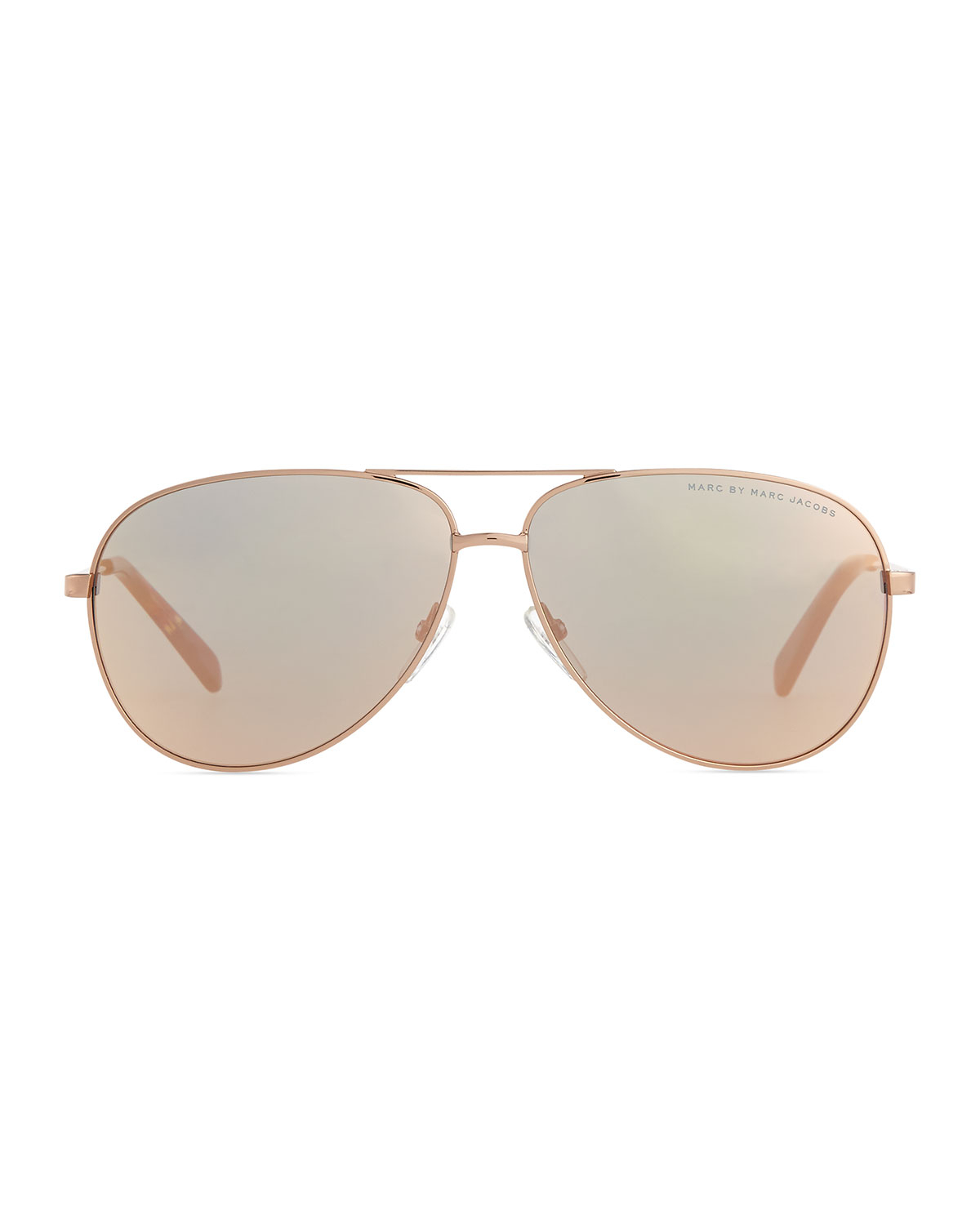 c998c21ed7efc Lyst - Marc By Marc Jacobs Rose Golden Aviator Sunglasses With ...