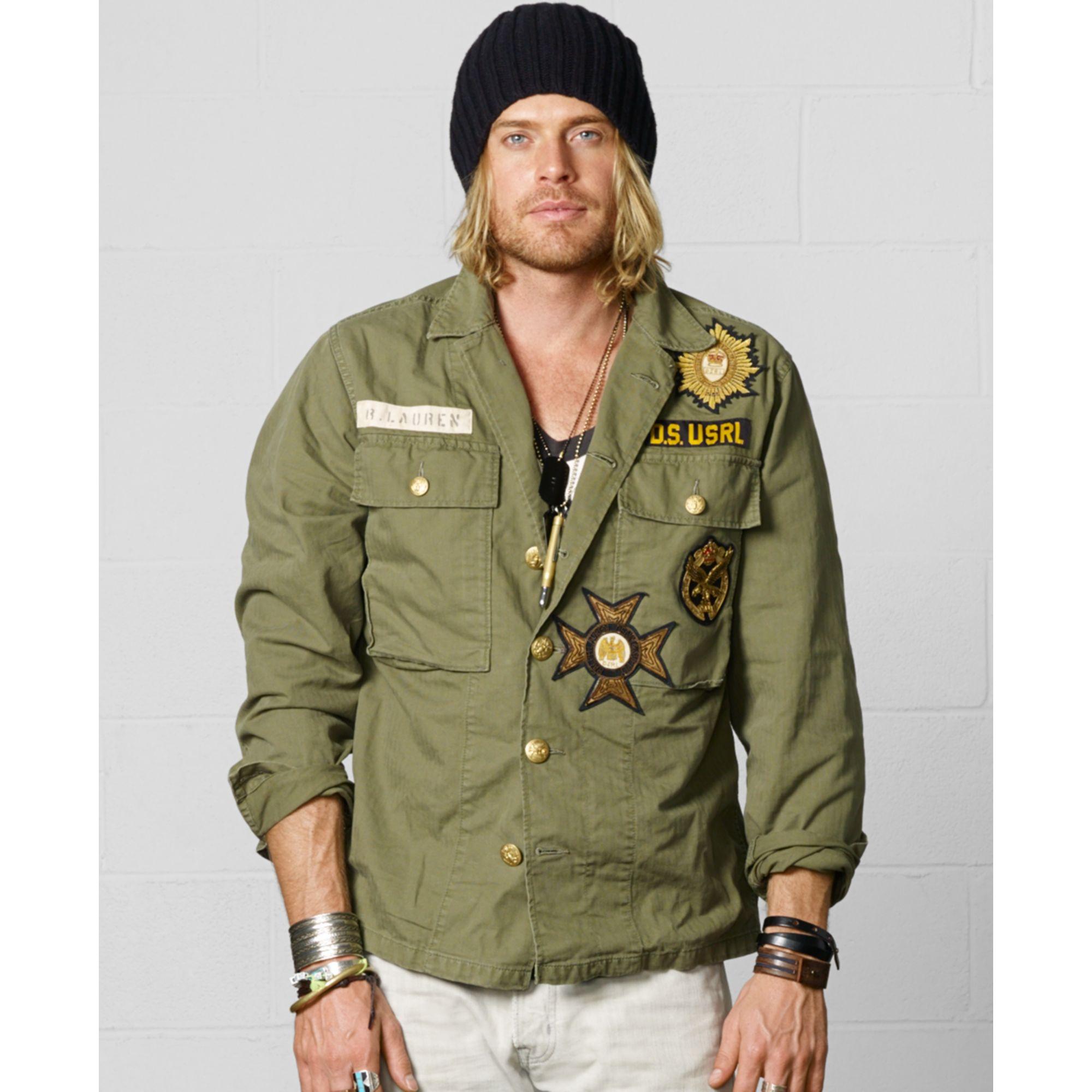 4138328cd Denim   Supply Ralph Lauren Military Shirt Jacket in Green for Men ...