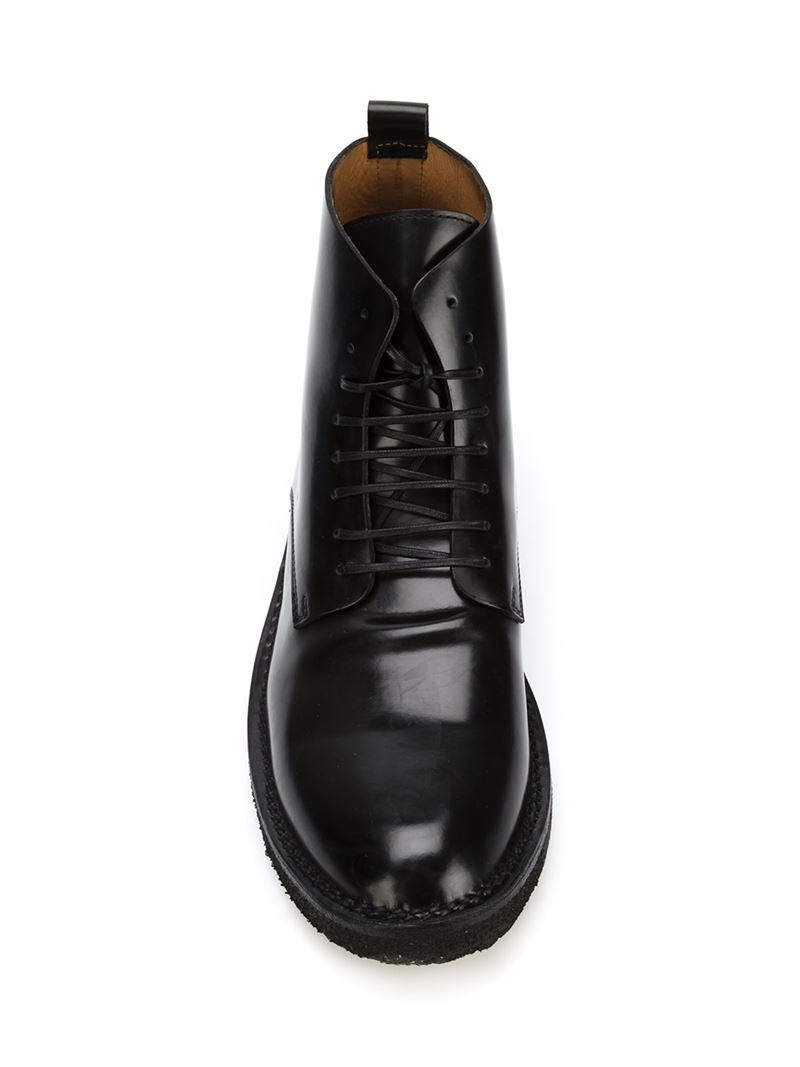 Buttero Lace-up Ankle Boots in Black for Men | Lyst