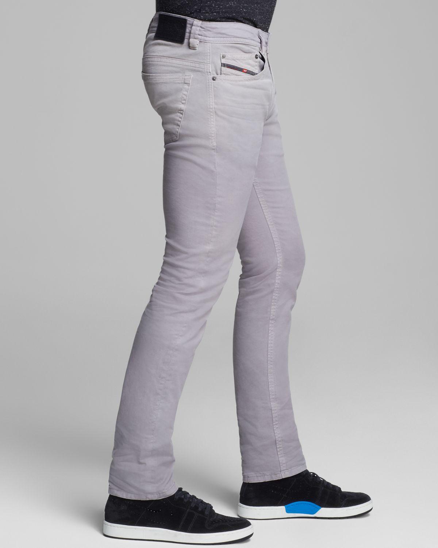 Diesel Jeans Thavar Slim Fit in Grey in Gray for Men | Lyst
