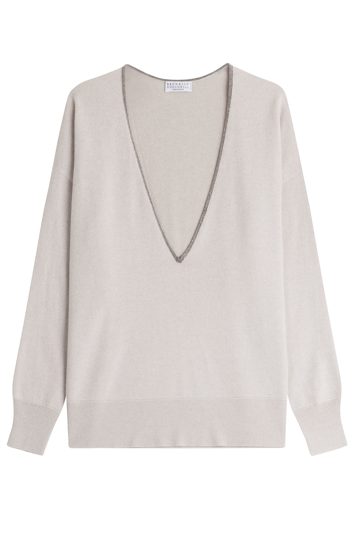 Bead-embellished cashmere sweater Brunello Cucinelli All Size Discount Official abwE4Q1qR