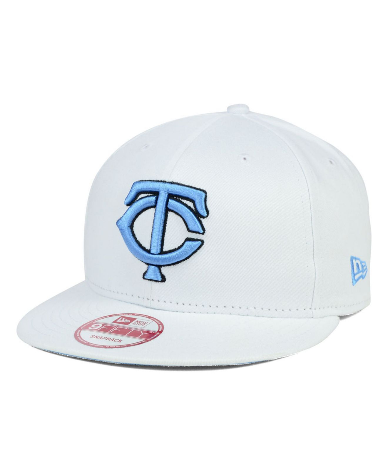 927d55e0aa5 ... where can i buy lyst ktz minnesota twins legend blue hook 9fifty snapback  cap in white