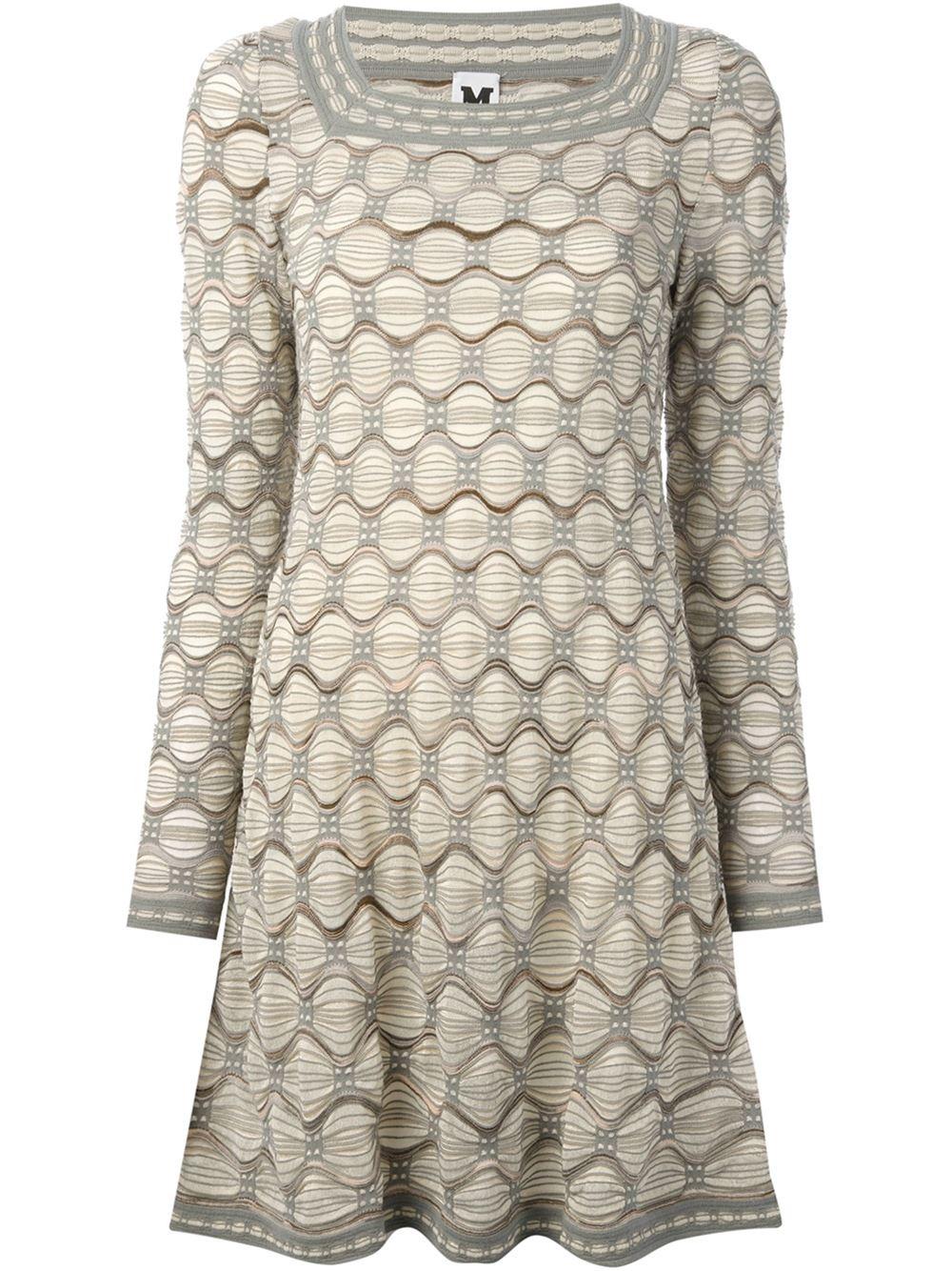 9dcff2d447a39 M Missoni Crochet Knit Dress in Natural - Lyst