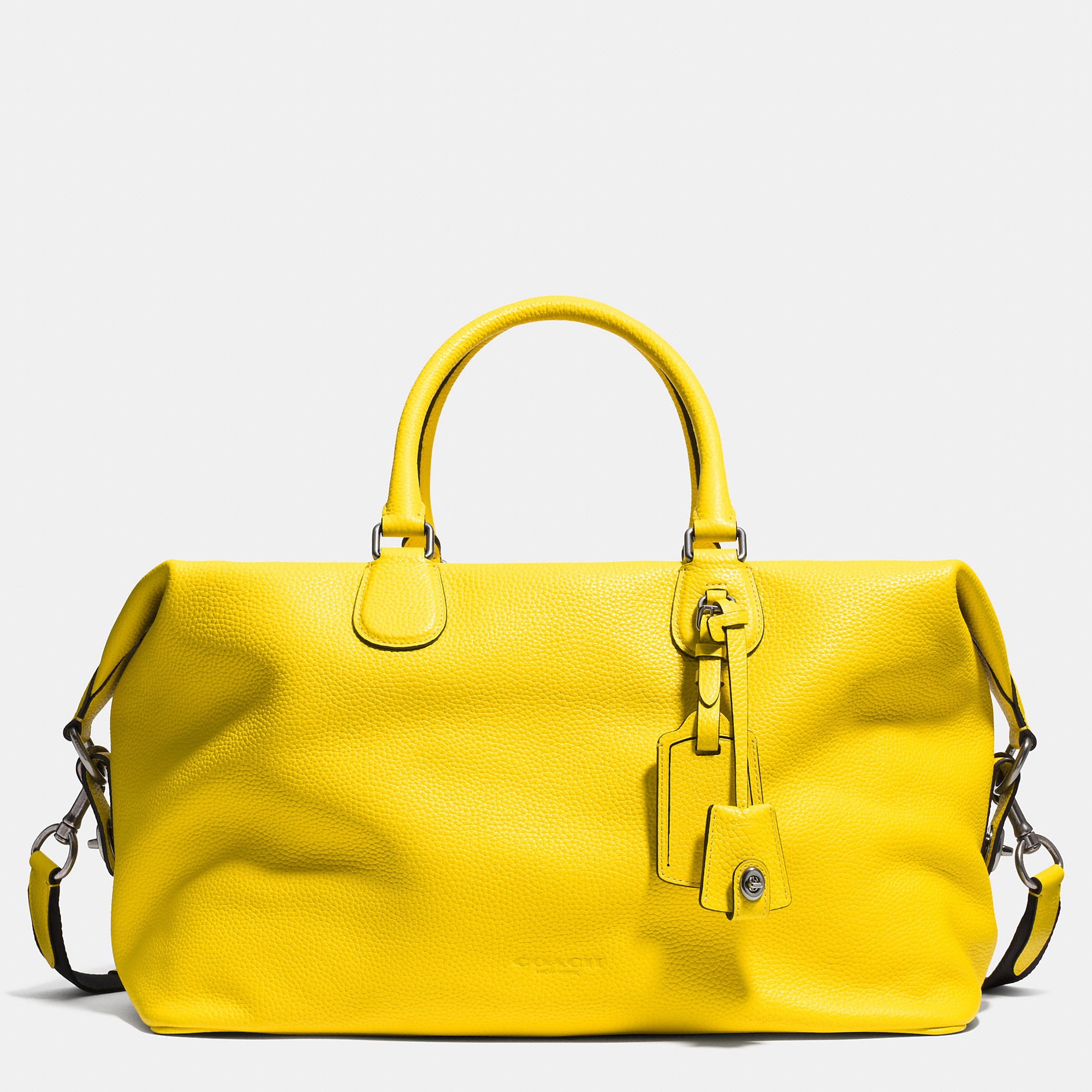 Coach Swagger 21 Explorer Bag In Pebble Leather Yellow For Men Lyst