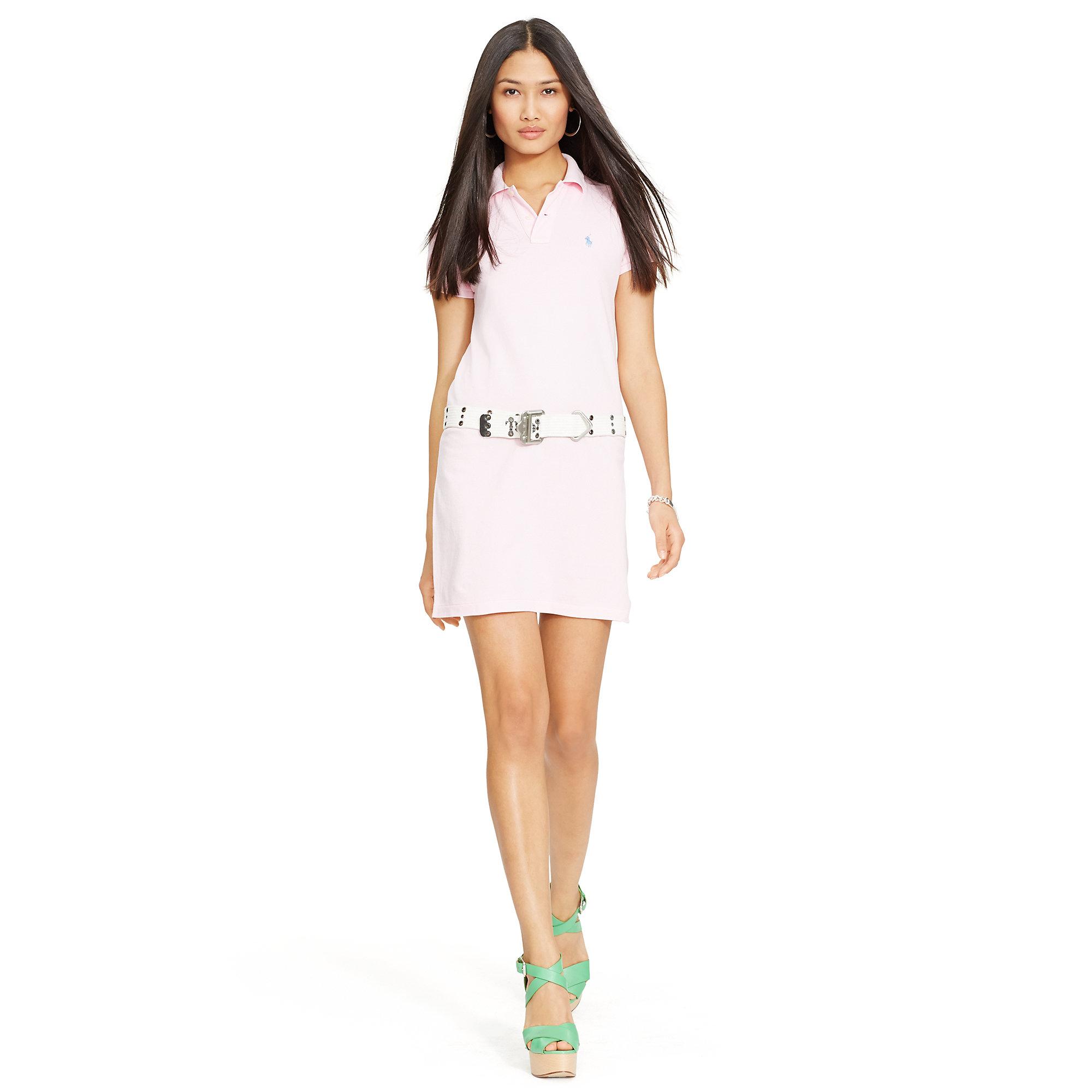 Ralph Lauren Mesh Women Short Sleeved Polo Pink