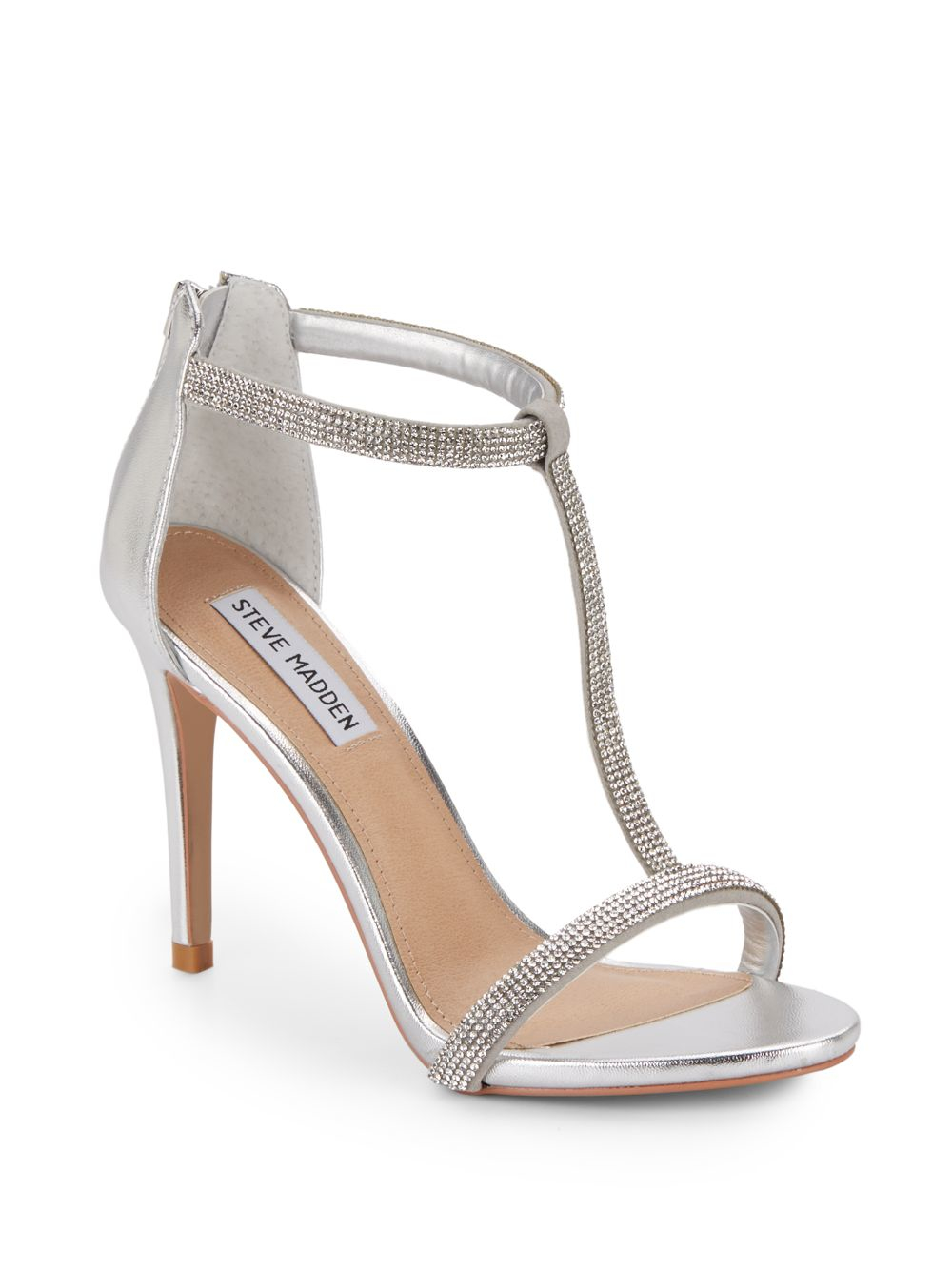 Steve Madden Francia Rhinestone Trimmed Sandals In