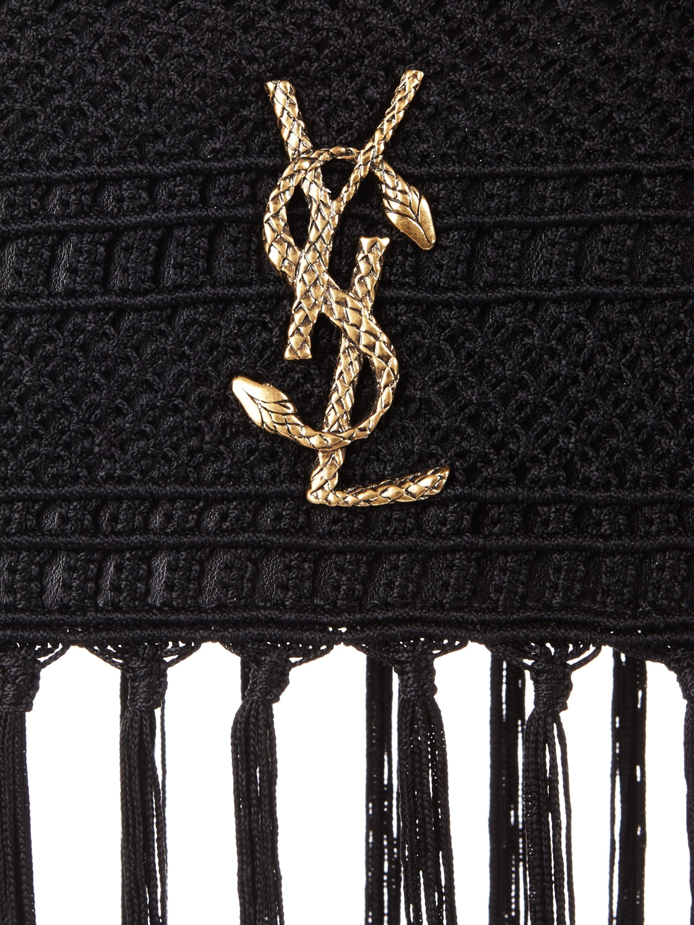 ysl patent bag - Saint laurent Monogram Serpent-logo Crochet Clutch in Black - Save ...